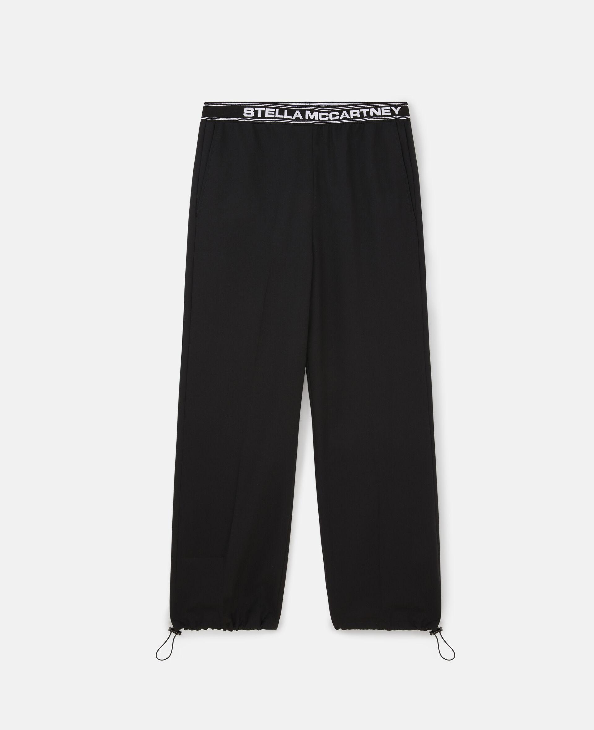 Taillierte Hosen mit Stella Logo -Schwarz-large image number 0