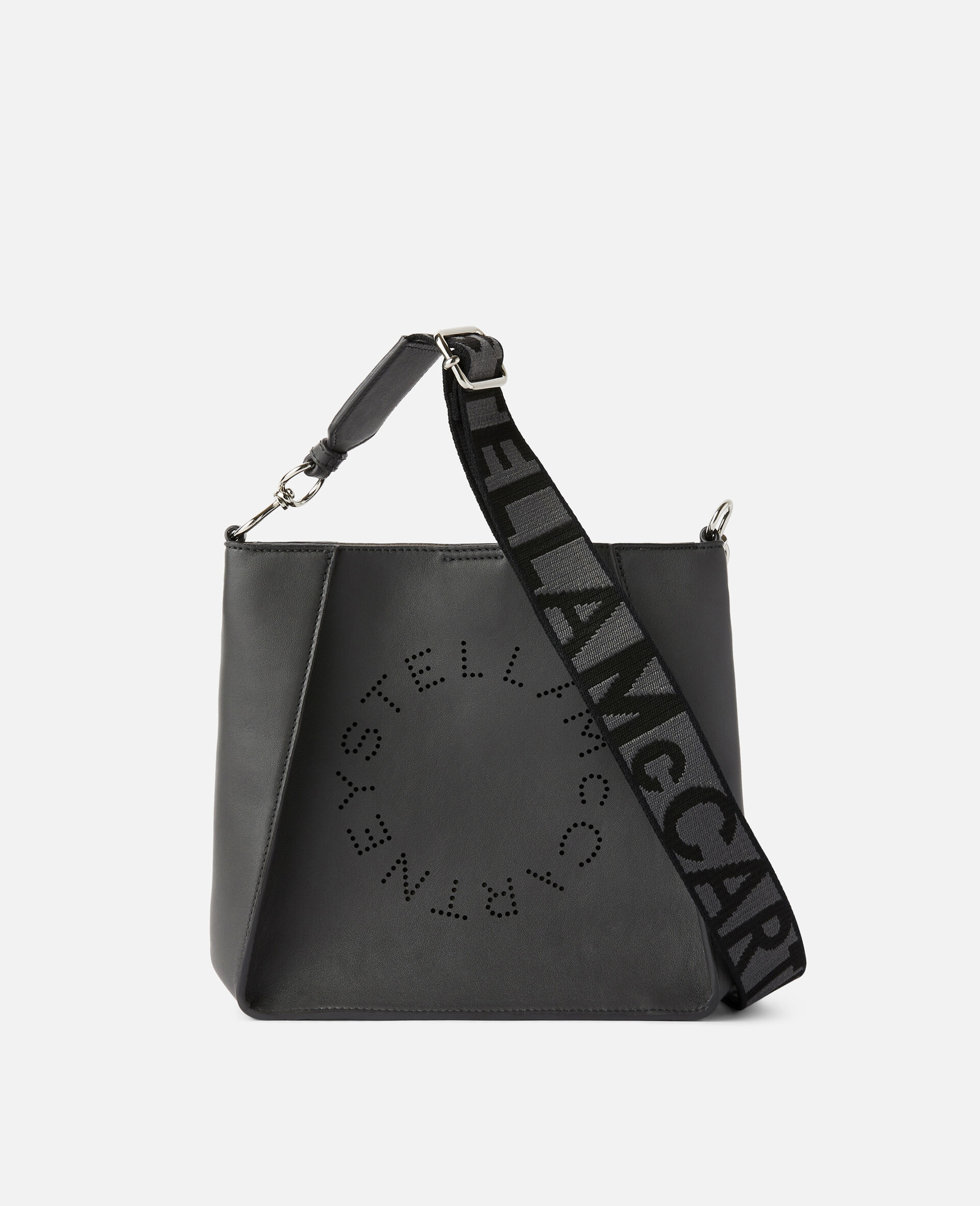 Borsa a spalla con Logo Stella-Grigio-large image number 0