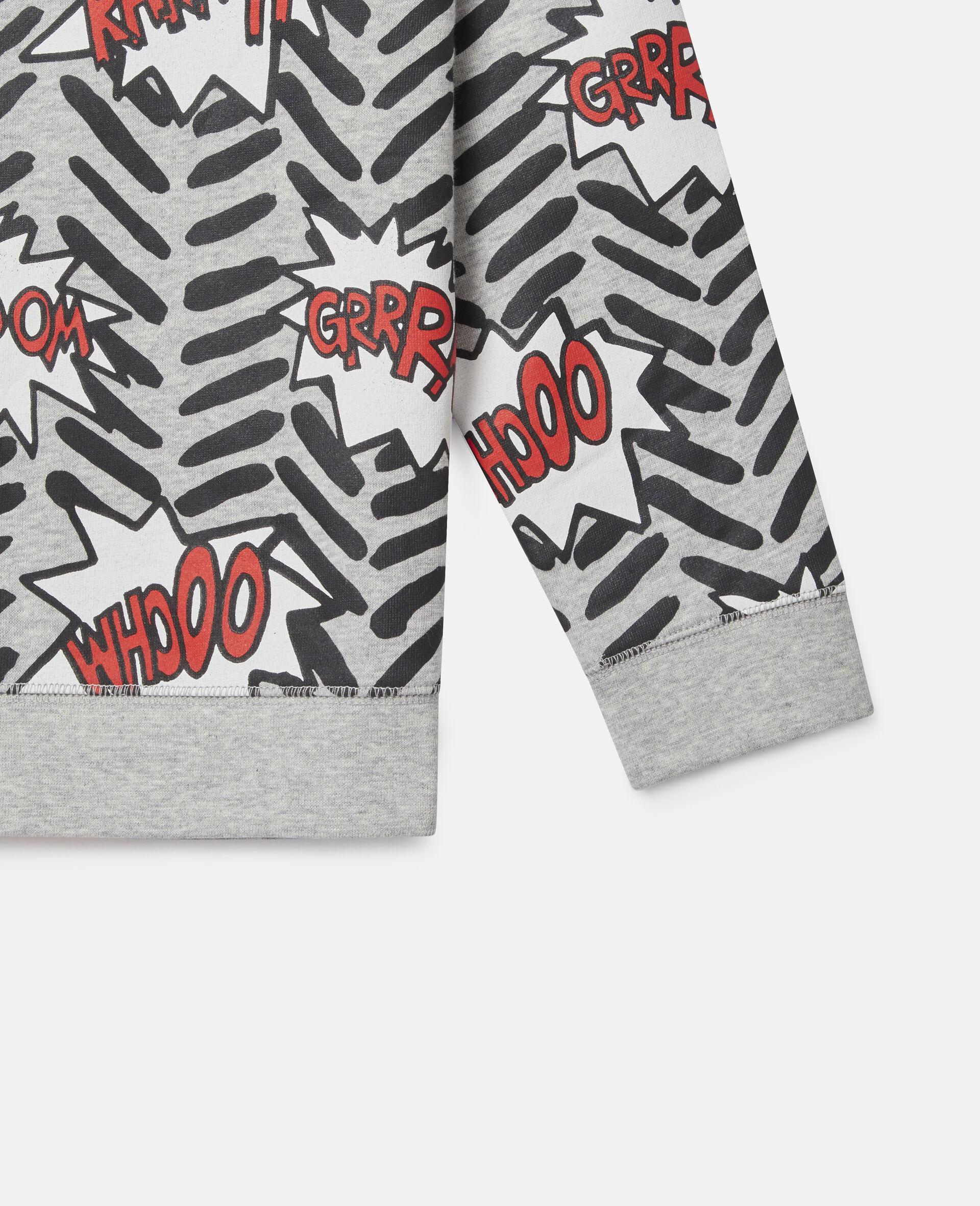 Comic Bubbles Fleece Sweatshirt-Grey-large image number 2