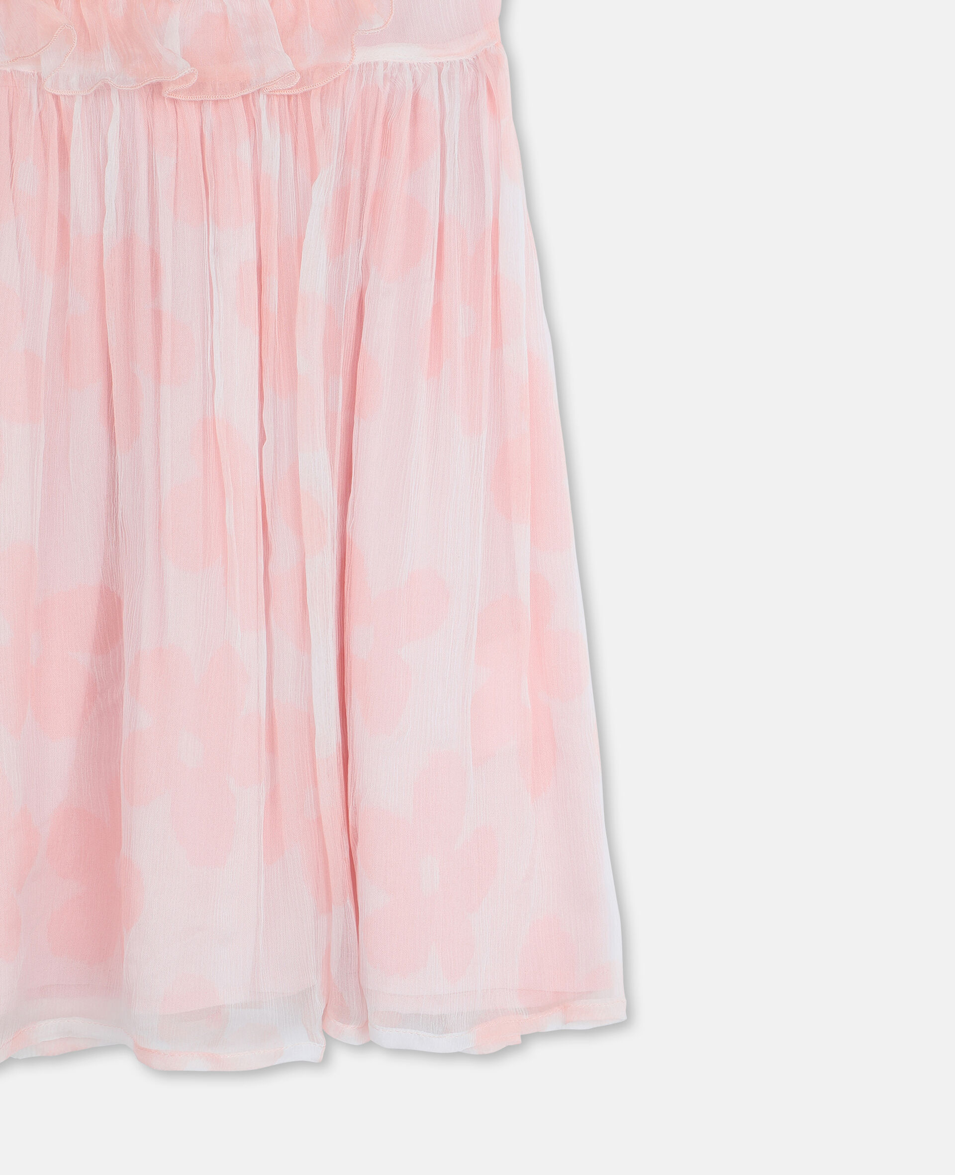 Kleid aus Seiden-Georgette mit Blumen-Rose-large image number 2