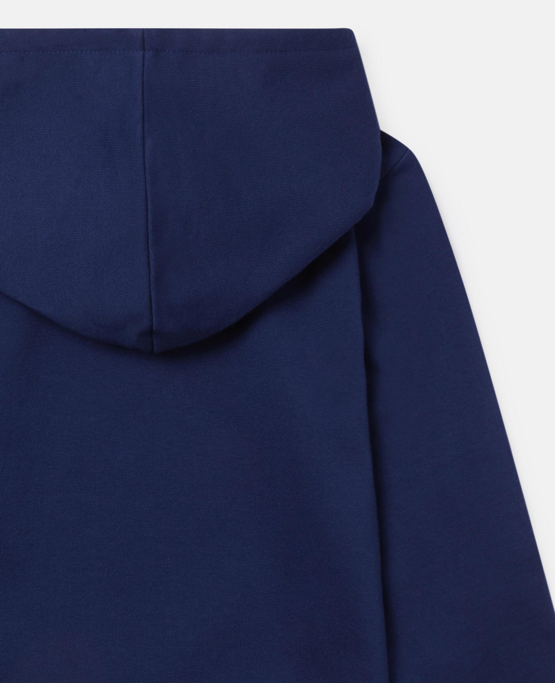 Sweat-shirt à capuche oversize en polaire «Eat My Dust»-Bleu-large image number 2