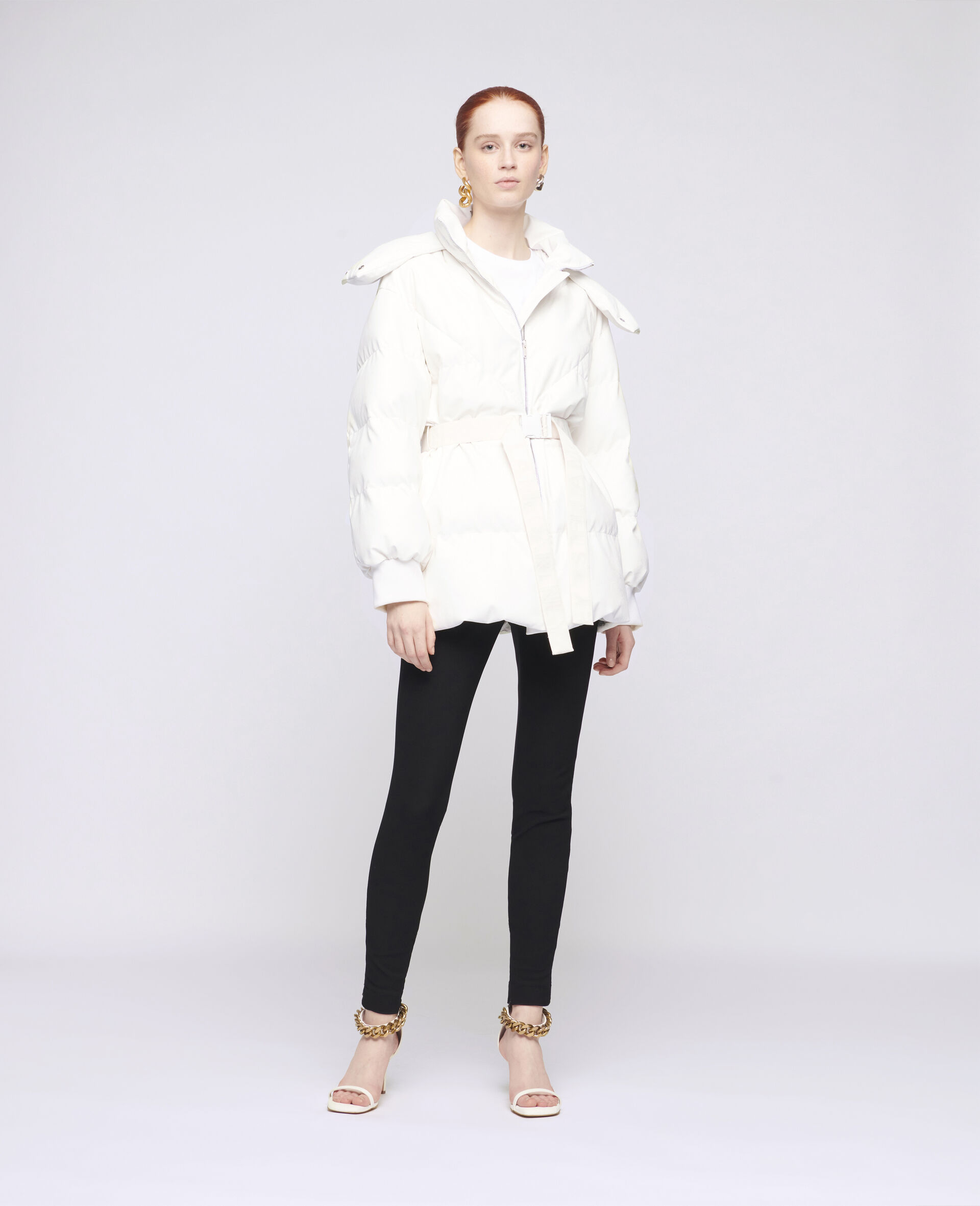 Kayla Quilted Puffer Jacket-White-large image number 1
