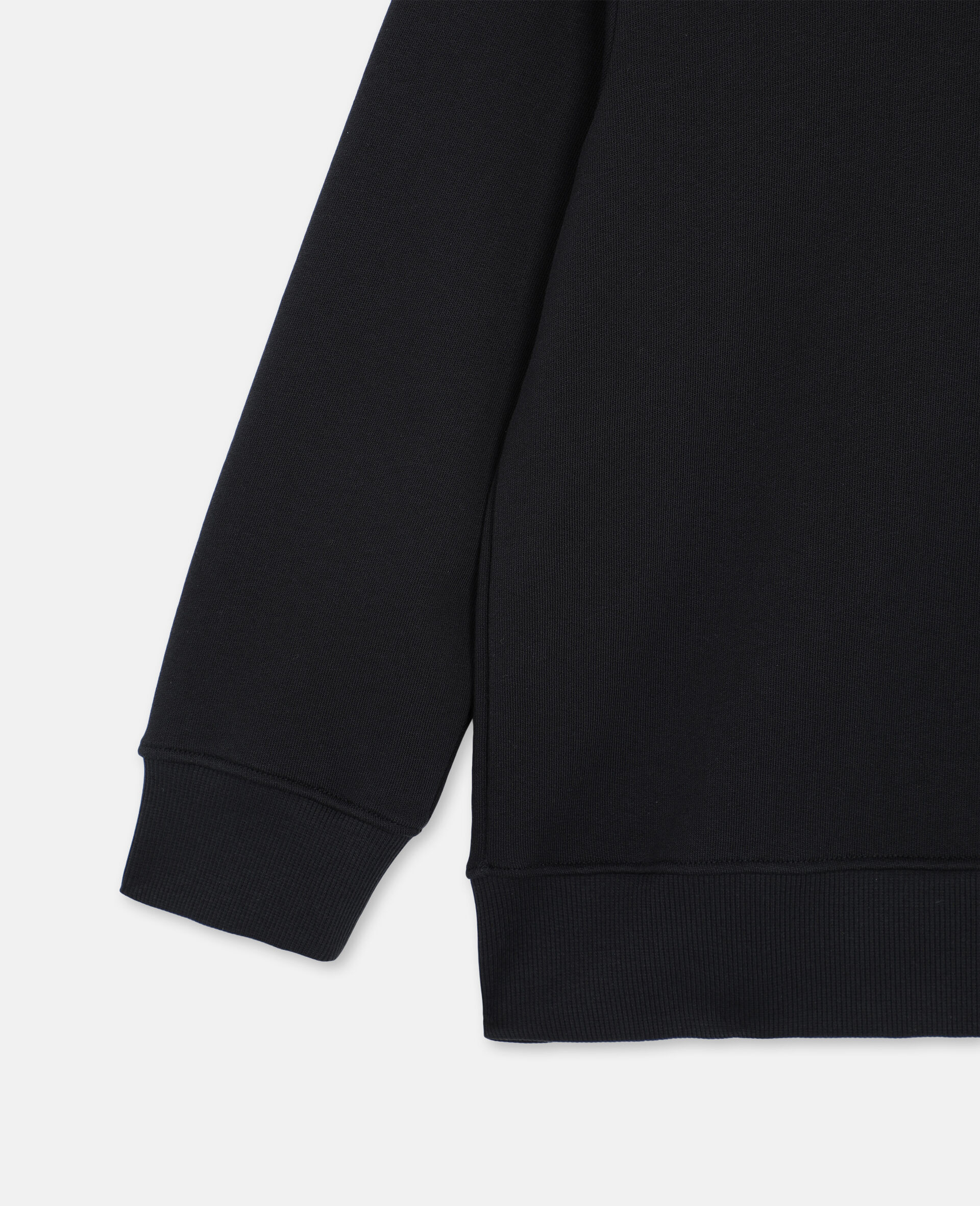 Oversize Skater Cotton Hoodie -Black-large image number 2