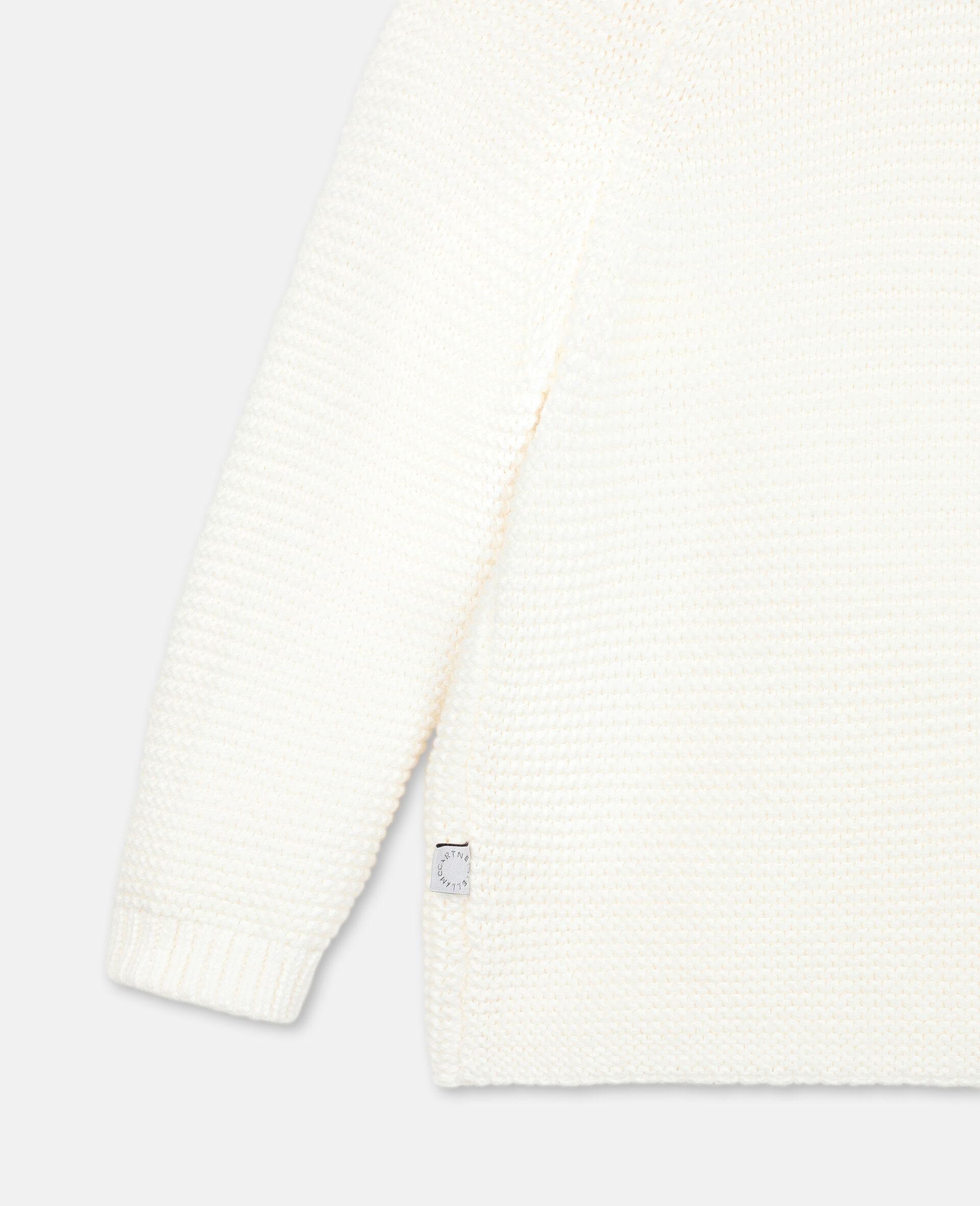 Bunny Knit Cardigan-White-large image number 2