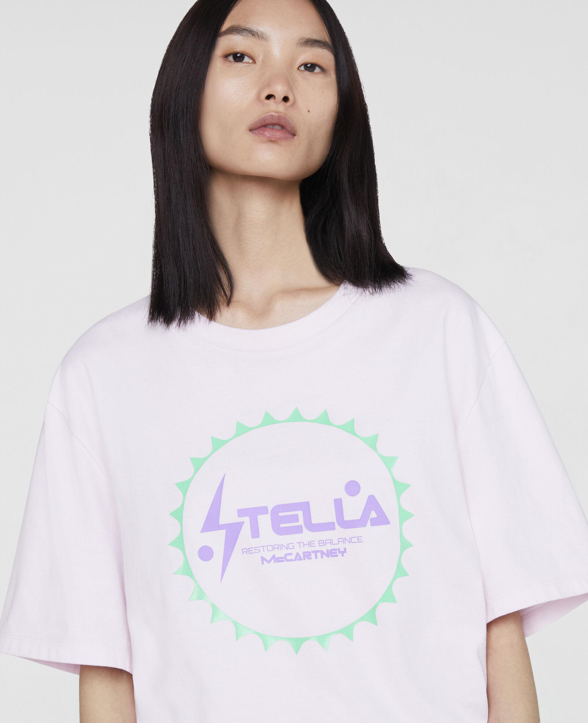 Pantaloni da Training con Logo Stella a Nastro-Rosa-large image number 4