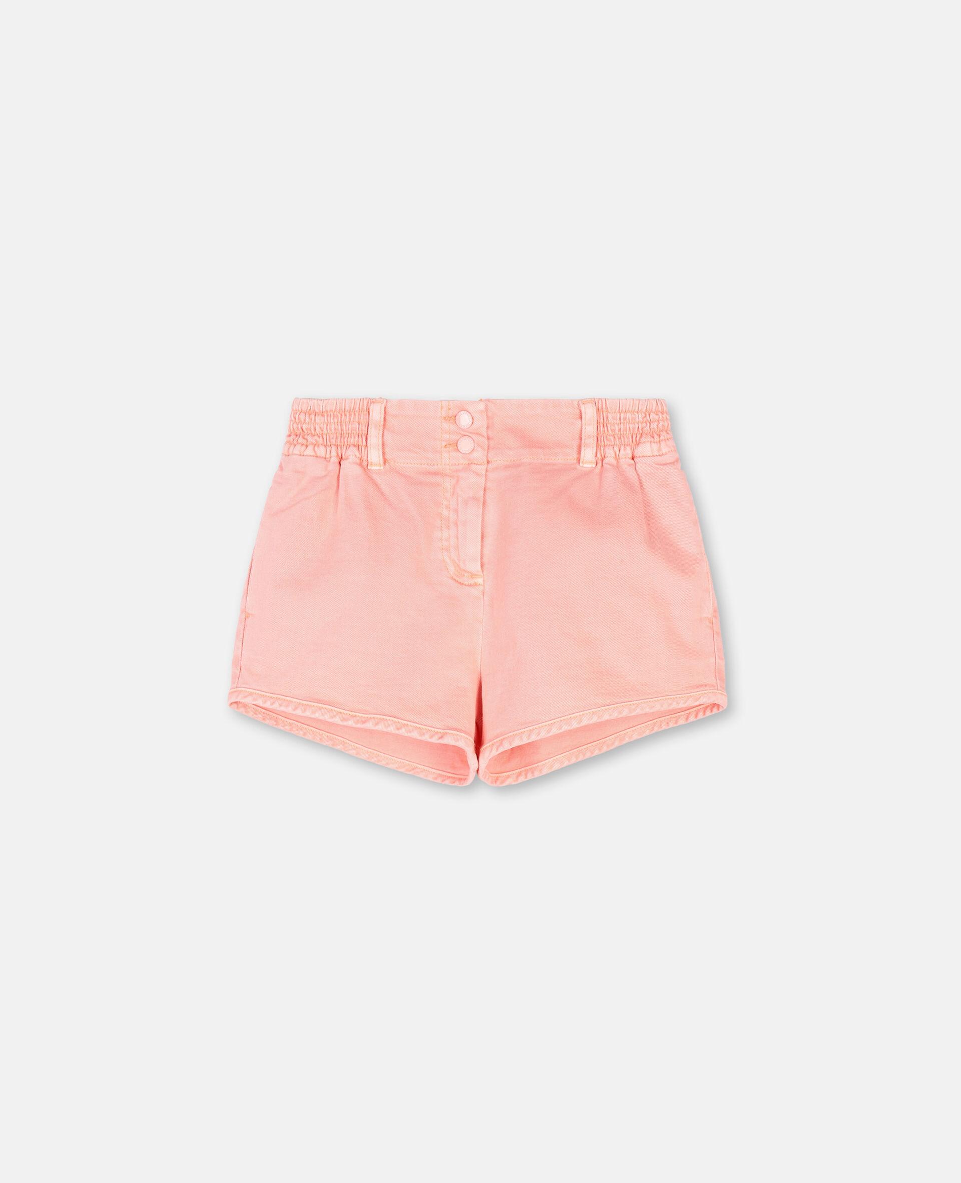 Denim Coral Shorts -Pink-large image number 0