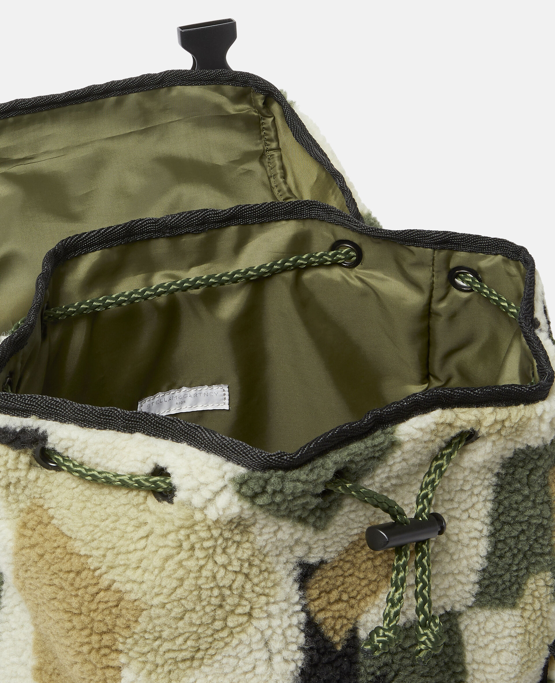 Military Camouflage Teddy Backpack-Beige-large image number 2