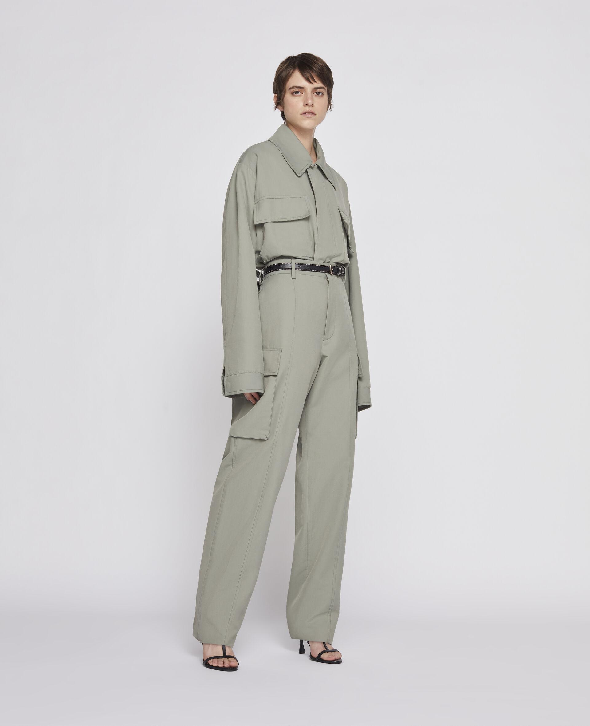 Pantalon kaki-Vert-large image number 1