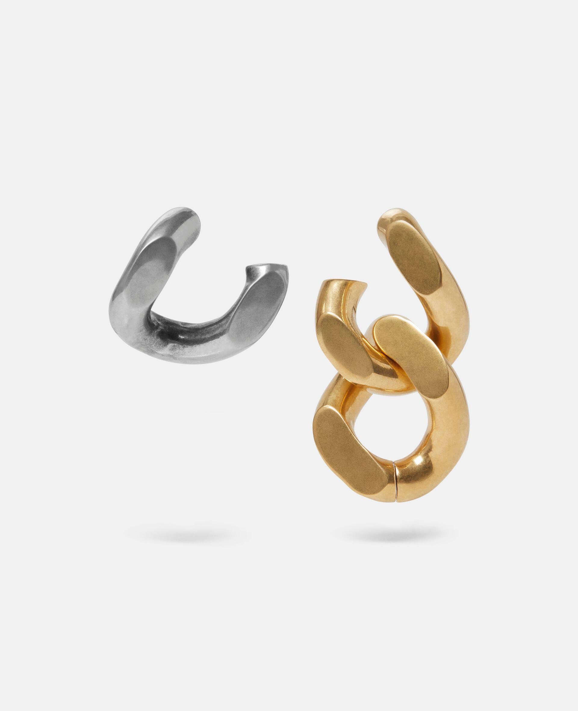 Brass & Aluminium Earrings-Yellow-large image number 2