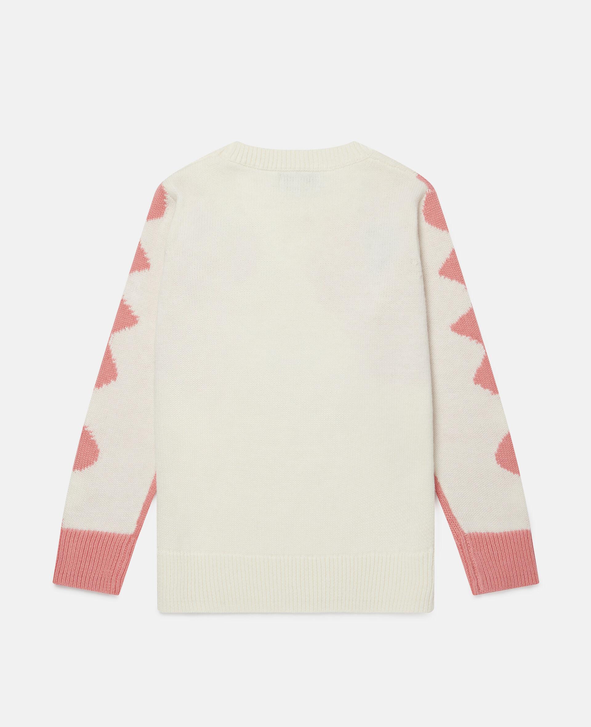Doodle Dog Intarsia Sweater -White-large image number 3