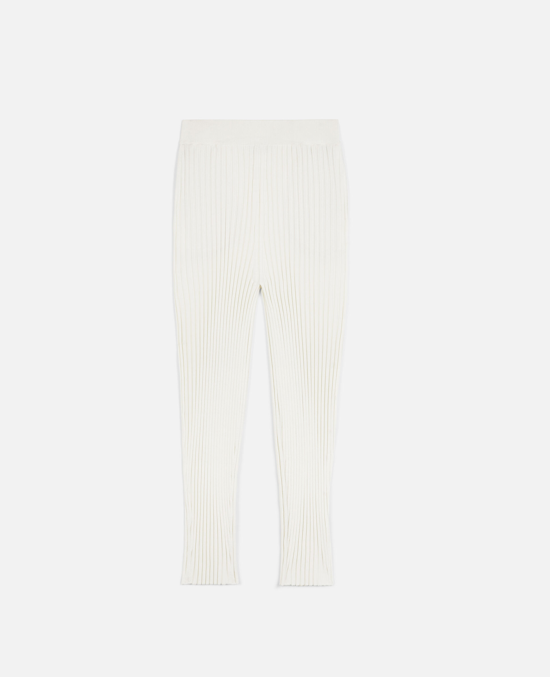 Rib-Knit Trousers-White-large image number 0