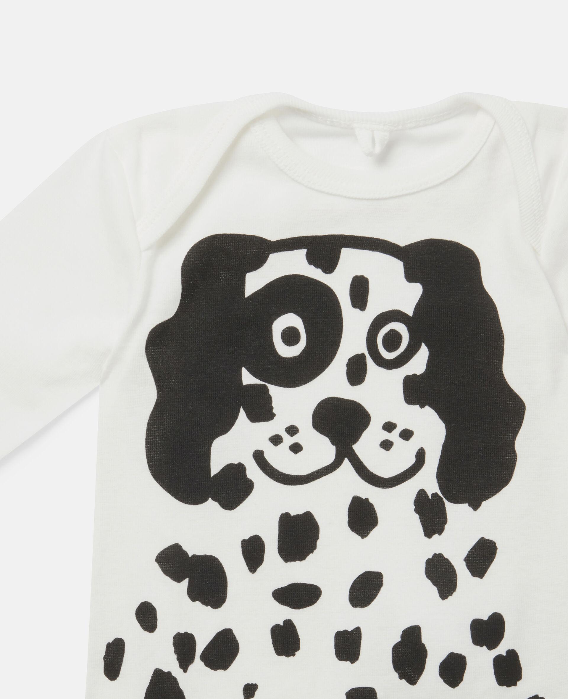Ensemble de bodys en jersey côtelé à dalmatiens-Blanc-large image number 2