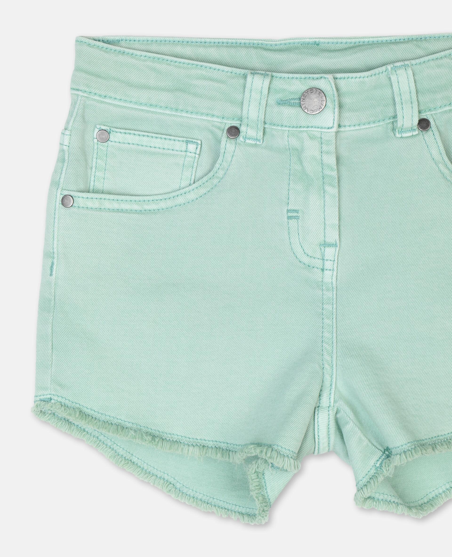 Denim Mint Shorts -Green-large image number 1