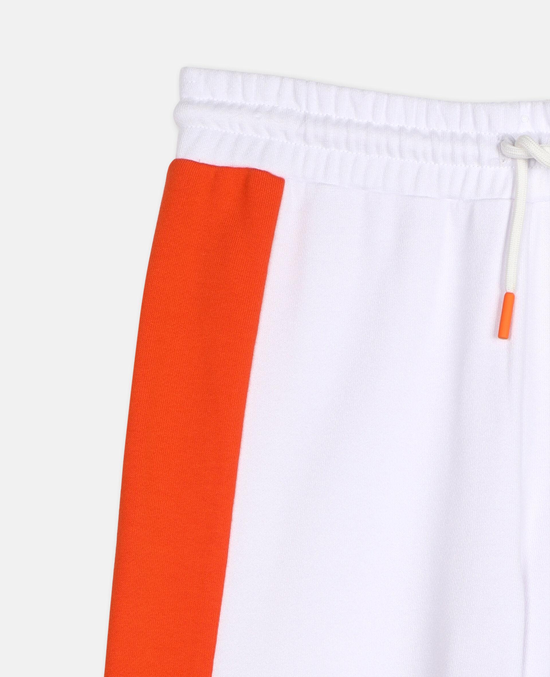 Sportliche Baumwoll-Jogginghose mit Logo -Weiß-large image number 1