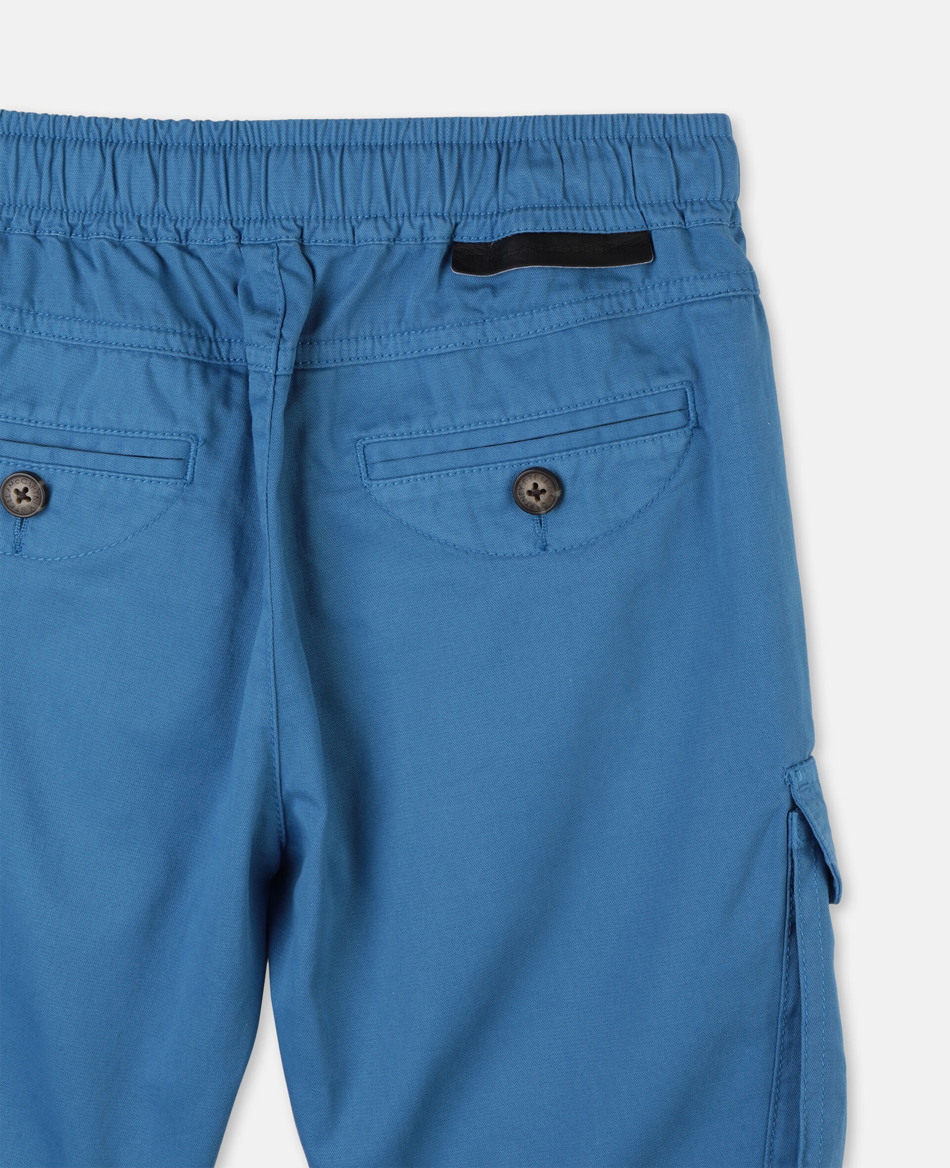 Cargo Cotton Twill Shorts -Blue-large image number 2