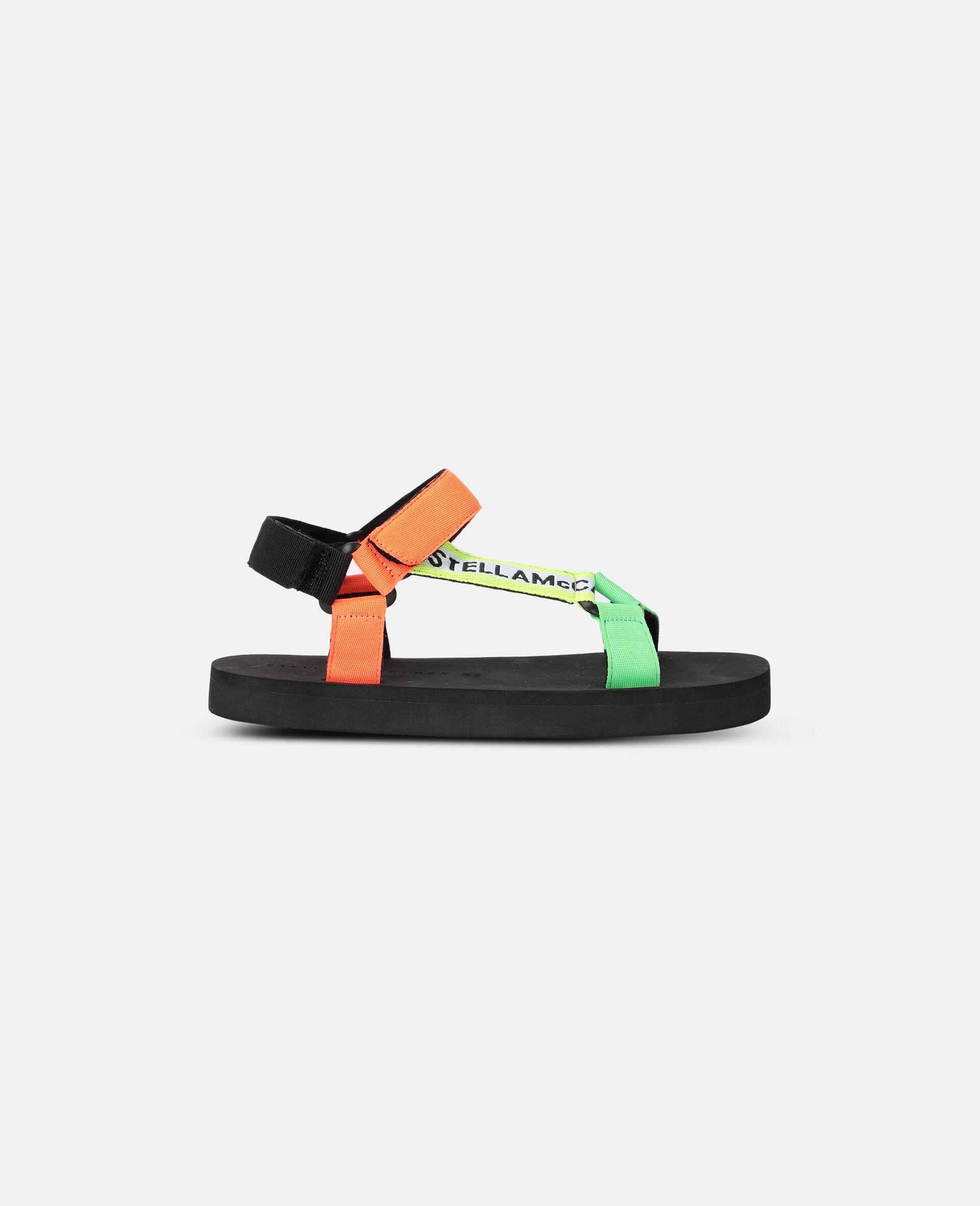 多色粘带凉鞋 -Multicolored-large image number 0