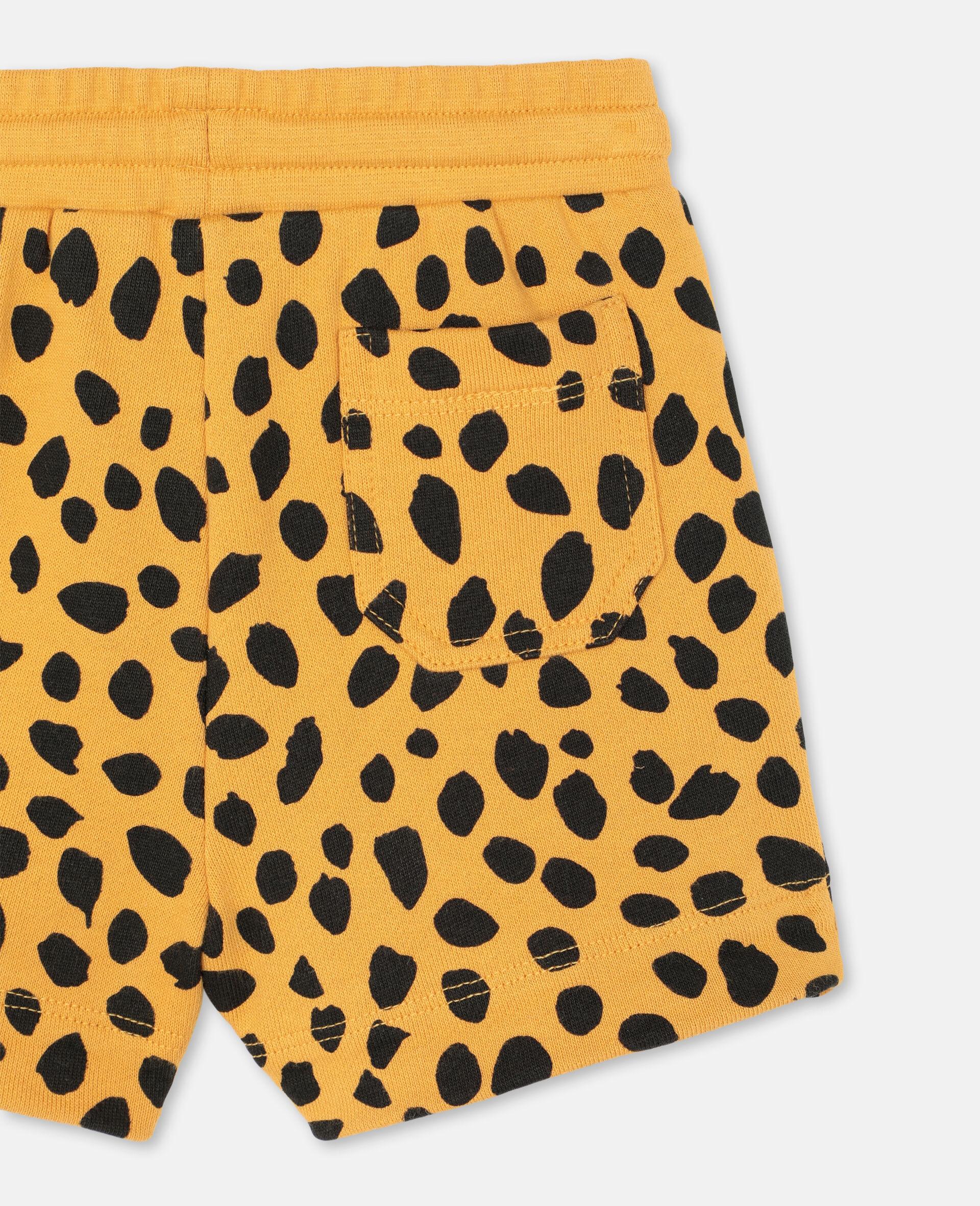 Cheetah Dots Cotton Shorts -Multicolour-large image number 2