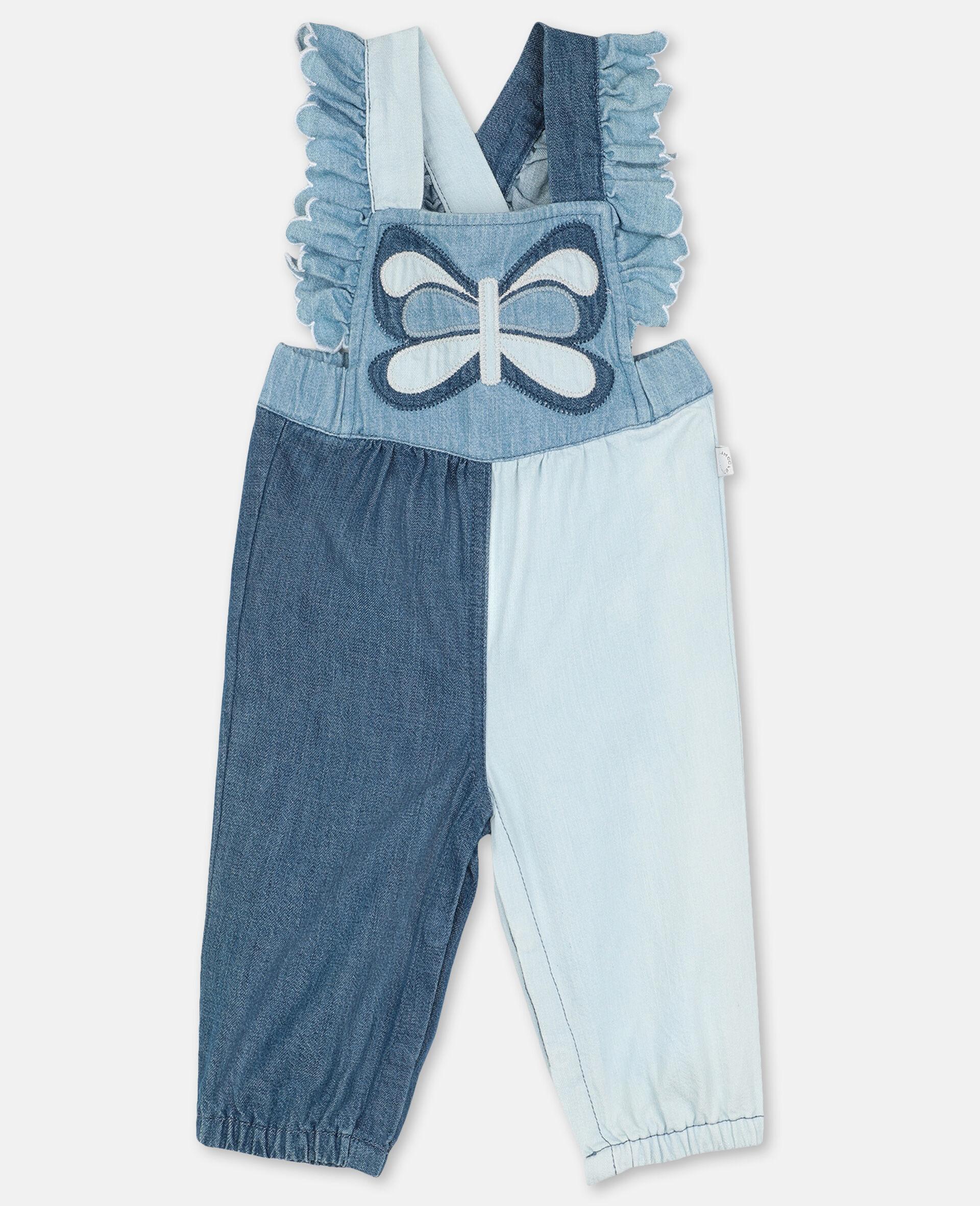 Batterfly Light Denim Jumpsuit-Blue-large image number 0