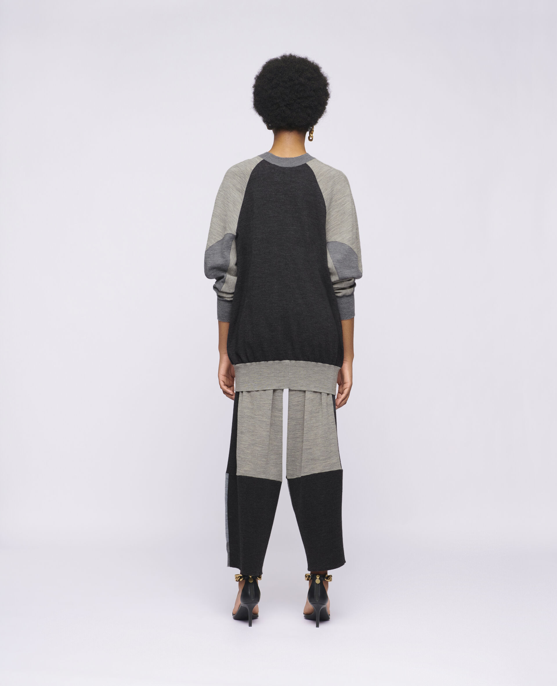 Knit Trousers-Grey-large image number 2