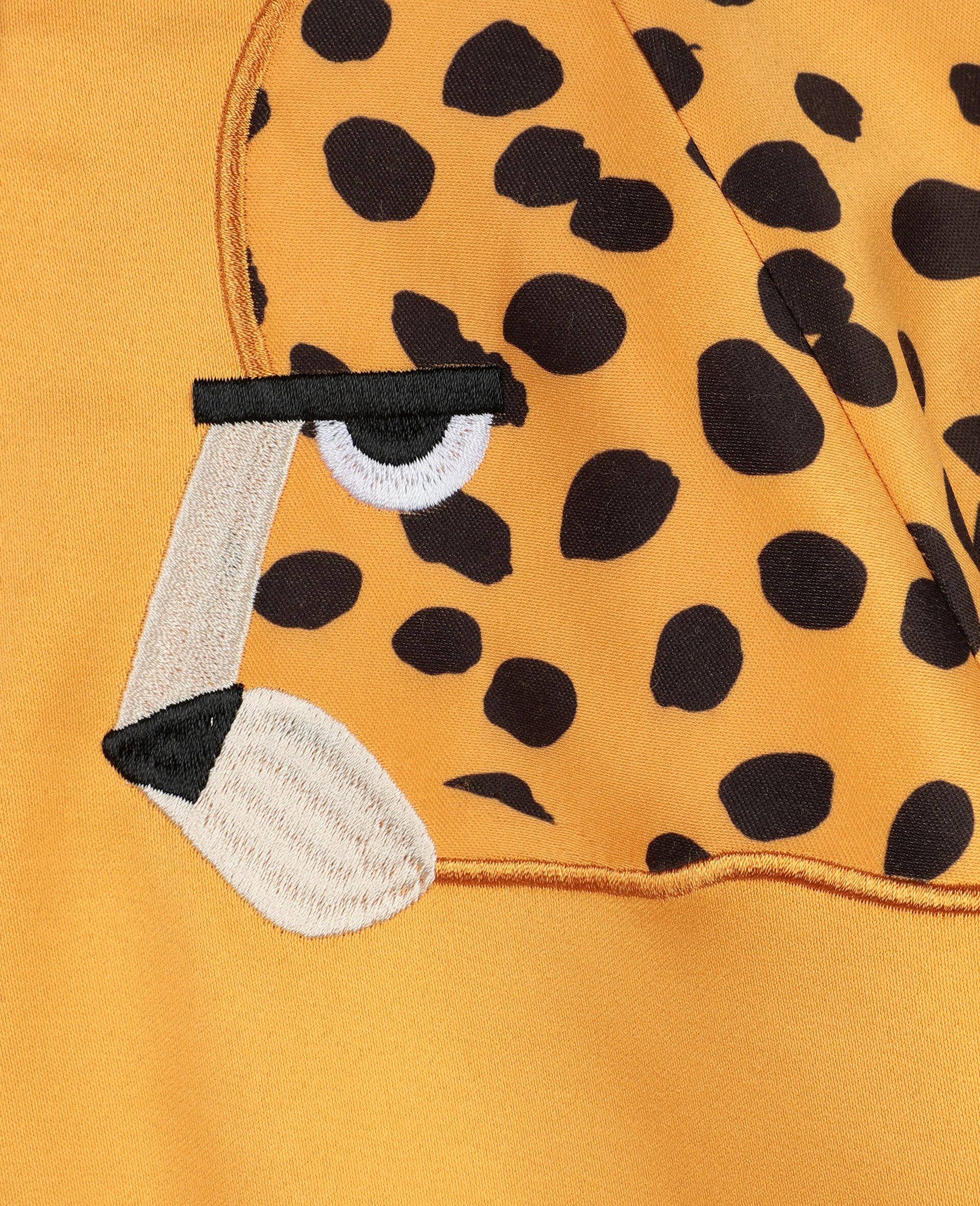 Cheetah Patch Satin Puffer   -Orange-large image number 1