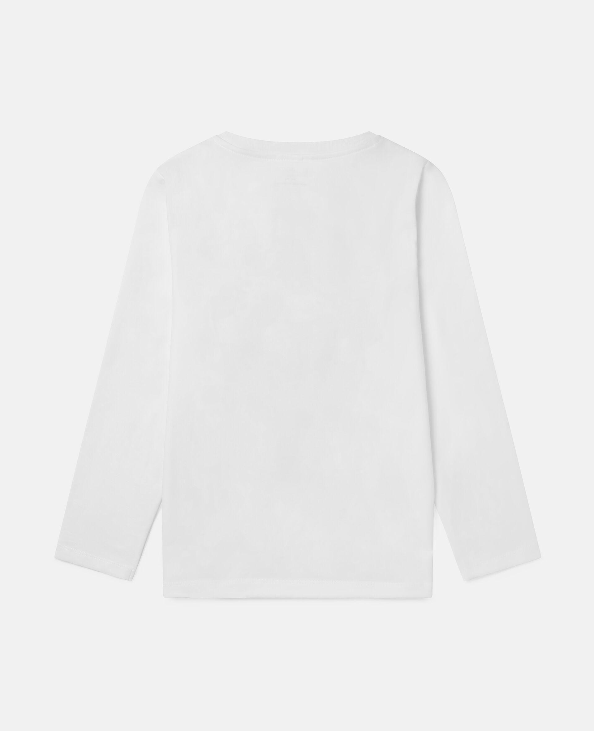 Top aus Baumwolle mit Happiest-Print-Weiß-large image number 3