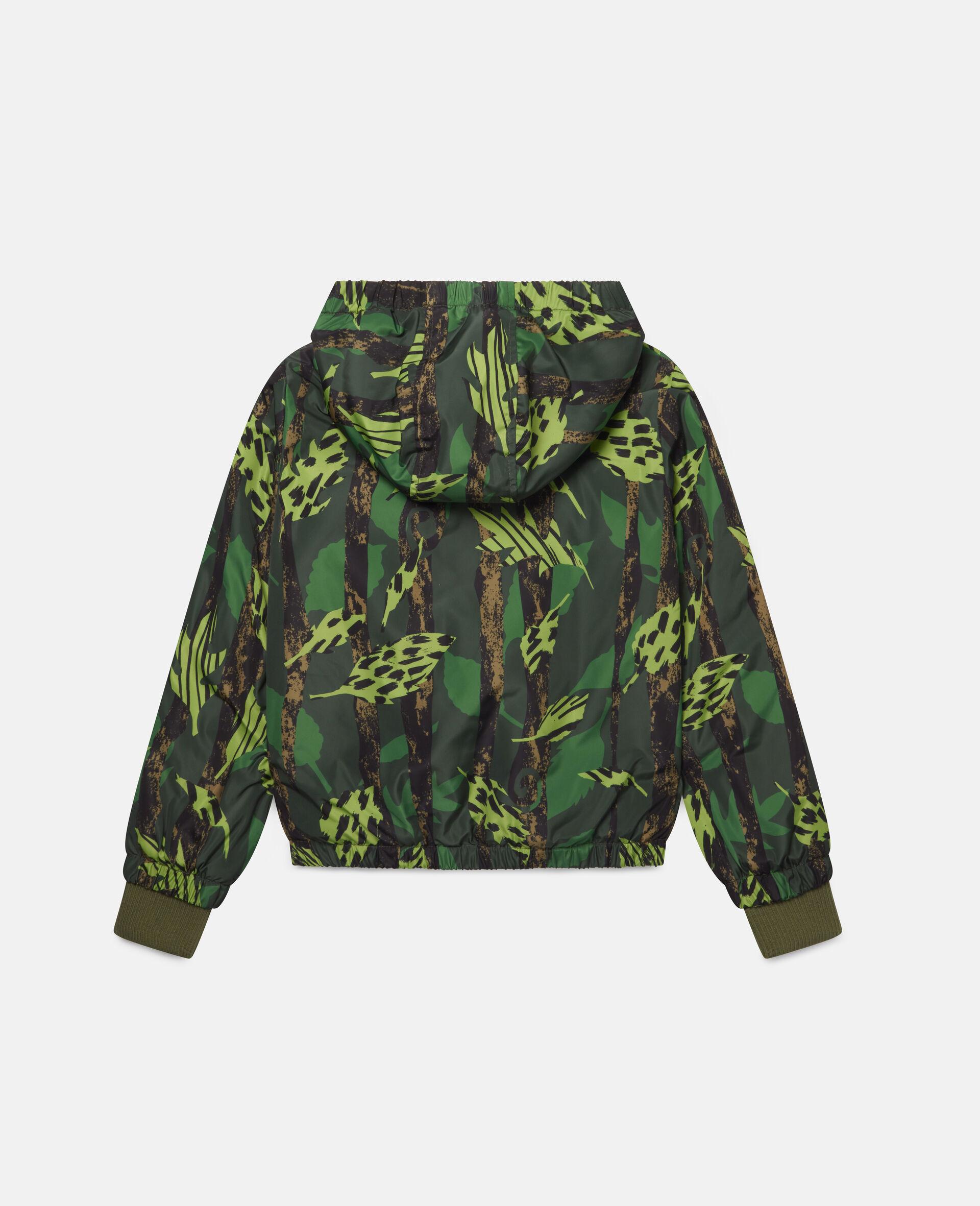 Leaves Hooded Jacket-Multicolour-large image number 3