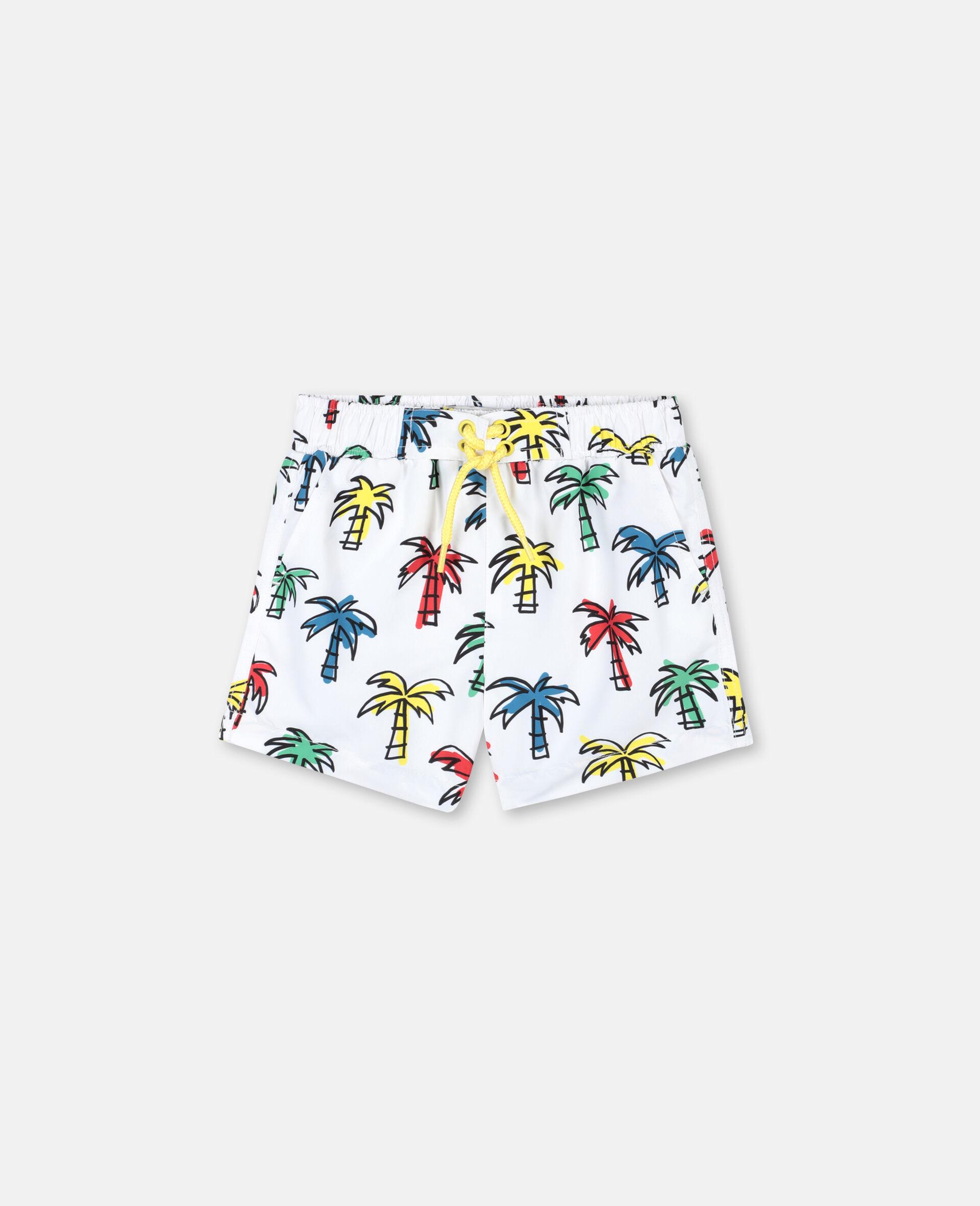 Doodly Palm Trees Swim Shorts-Multicolour-large image number 0