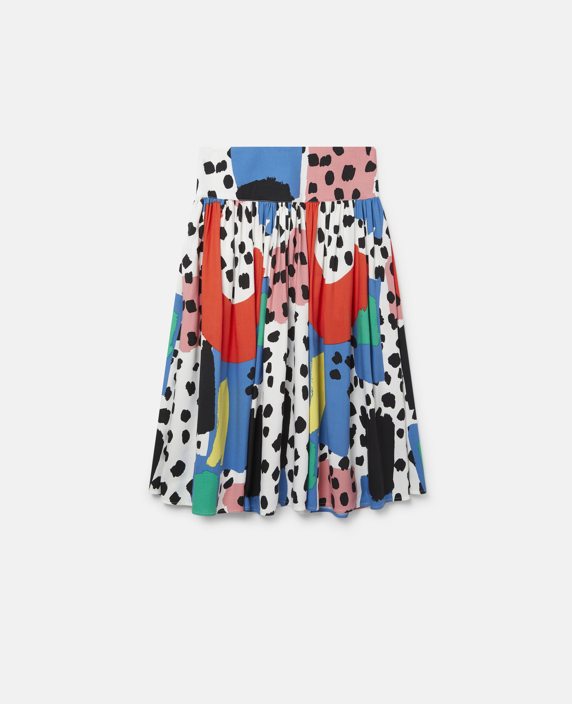 Dalmatian Spots Twill Skirt-Multicolour-large image number 0