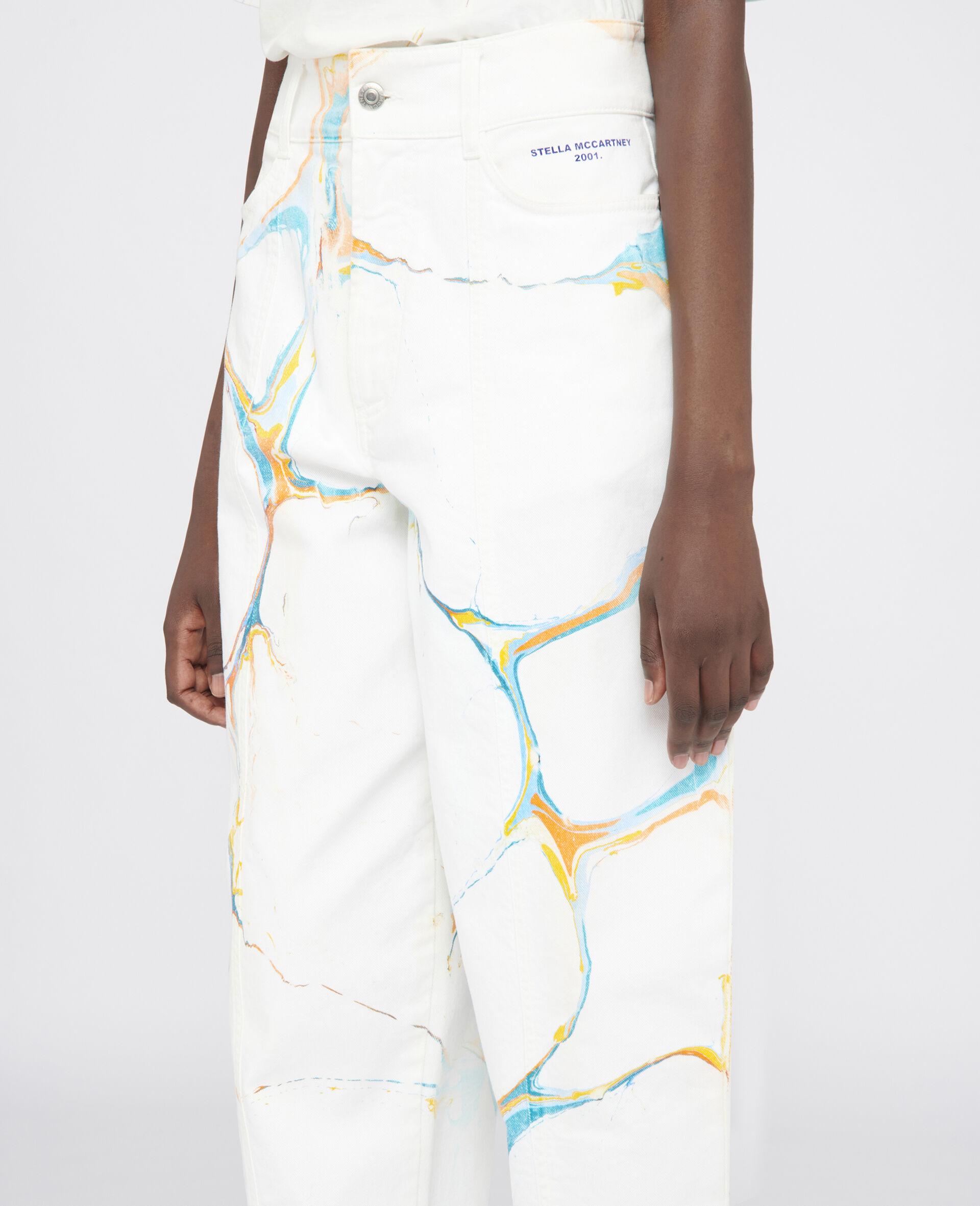 直筒牛仔裤-Multicolored-large image number 3