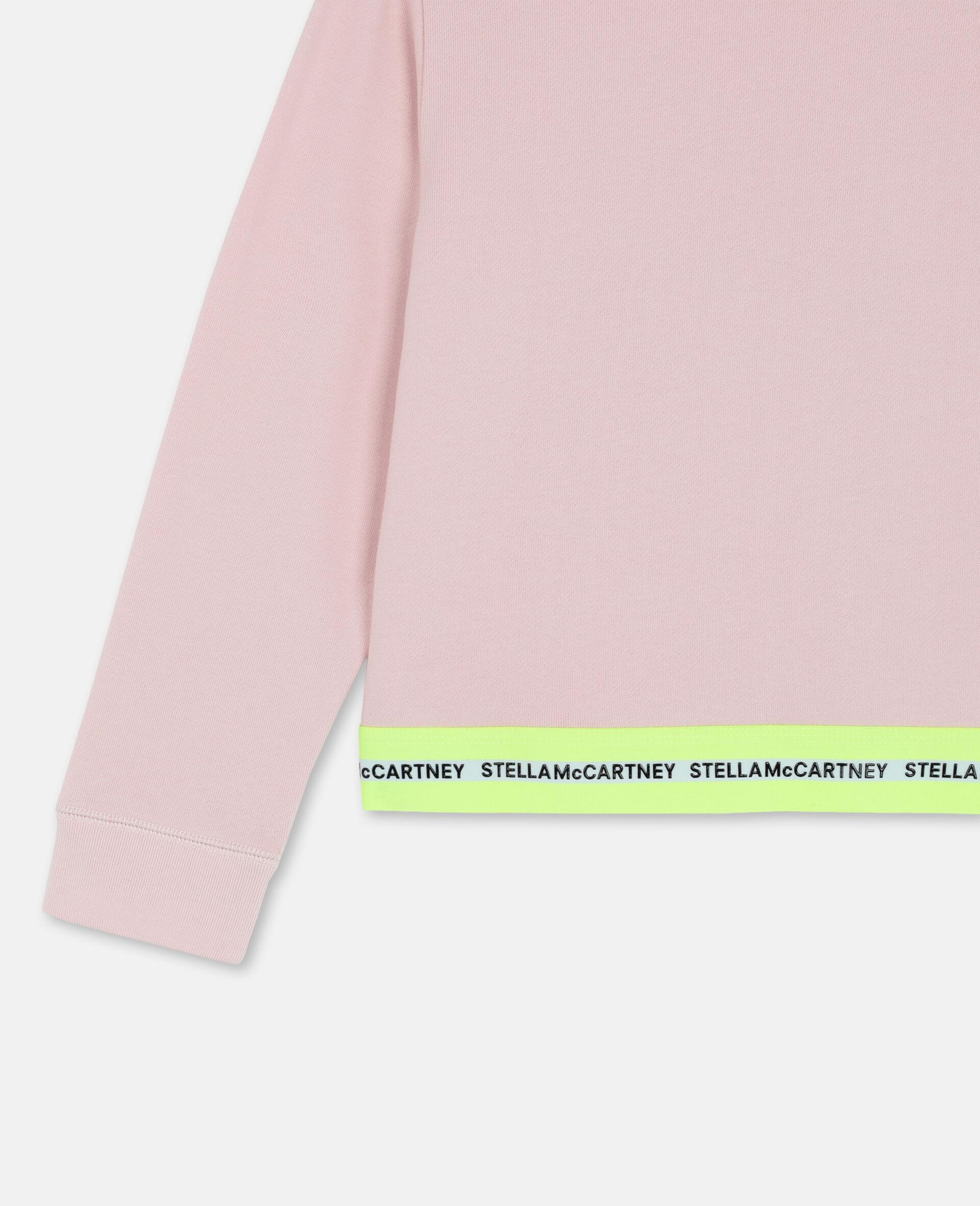 Logo Cotton Fleece Active Sweatshirt-Pink-large image number 2