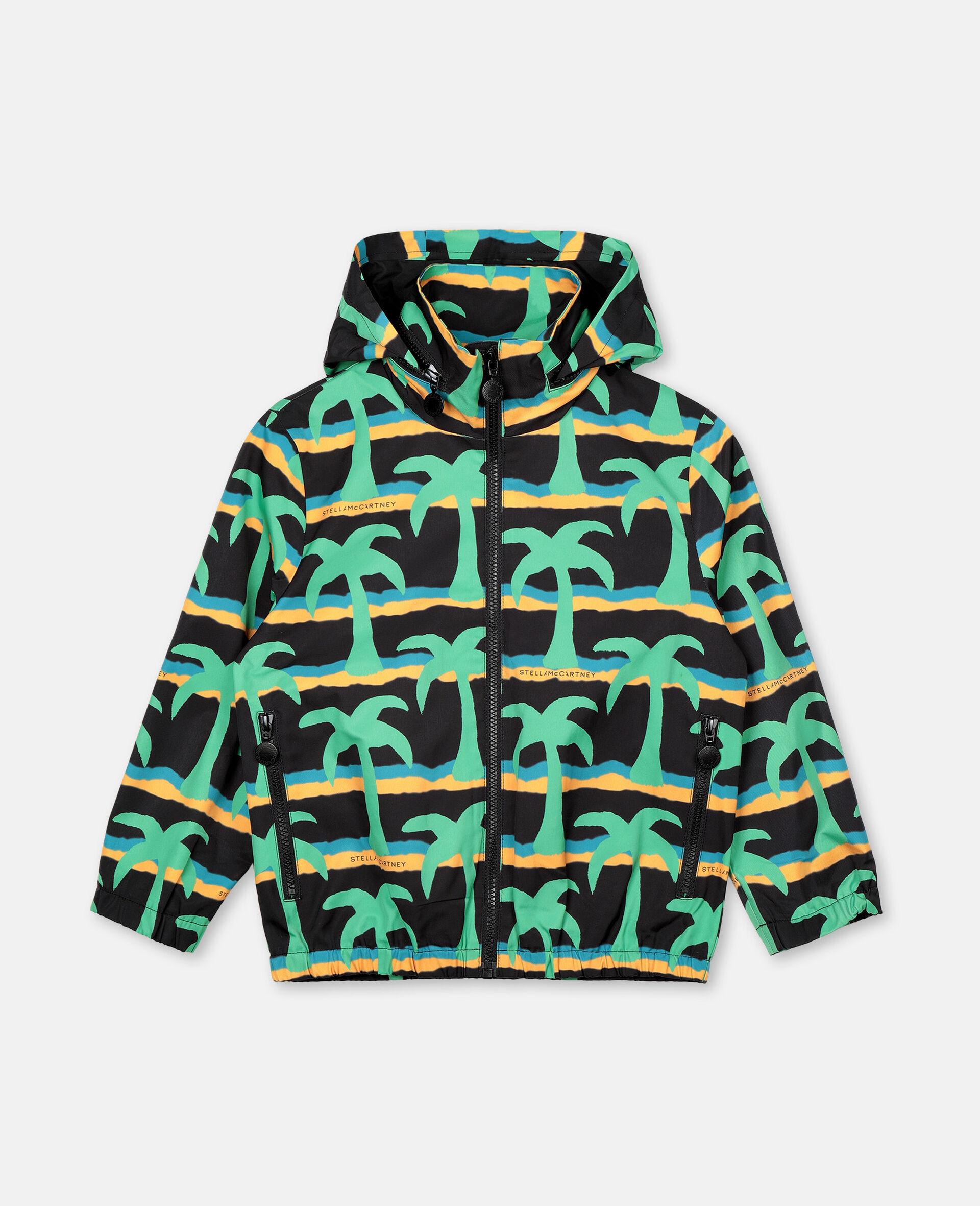 Jacke aus Polyester mit Palmen-Print -Schwarz-large image number 0