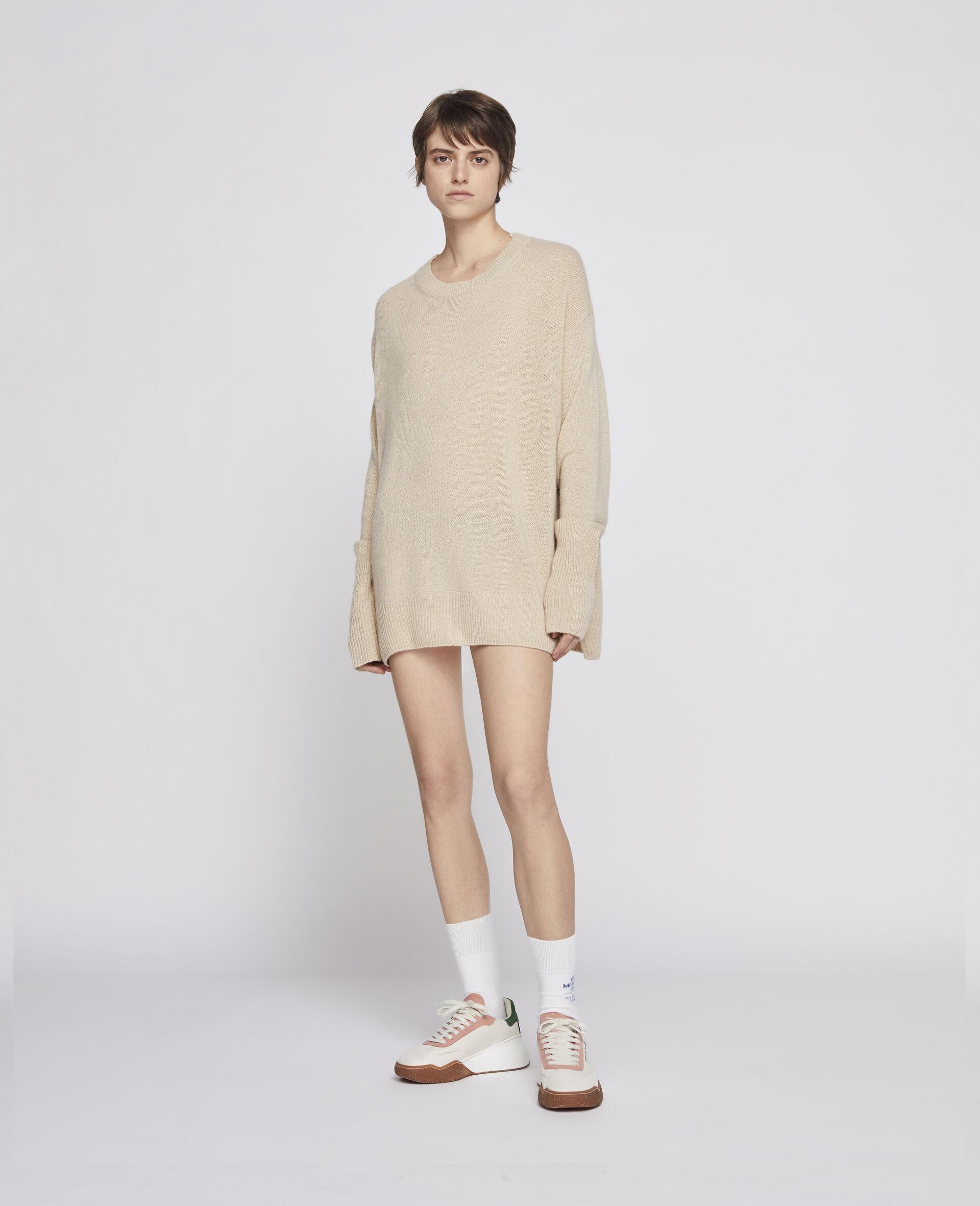 Pullover in Cashmere Rigenerato-Grigio-large image number 2