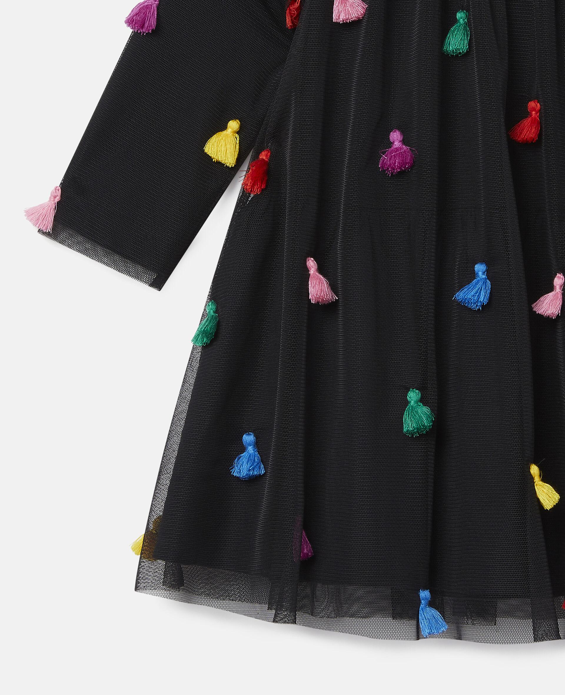 Tassels Tulle Dress-Black-large image number 1