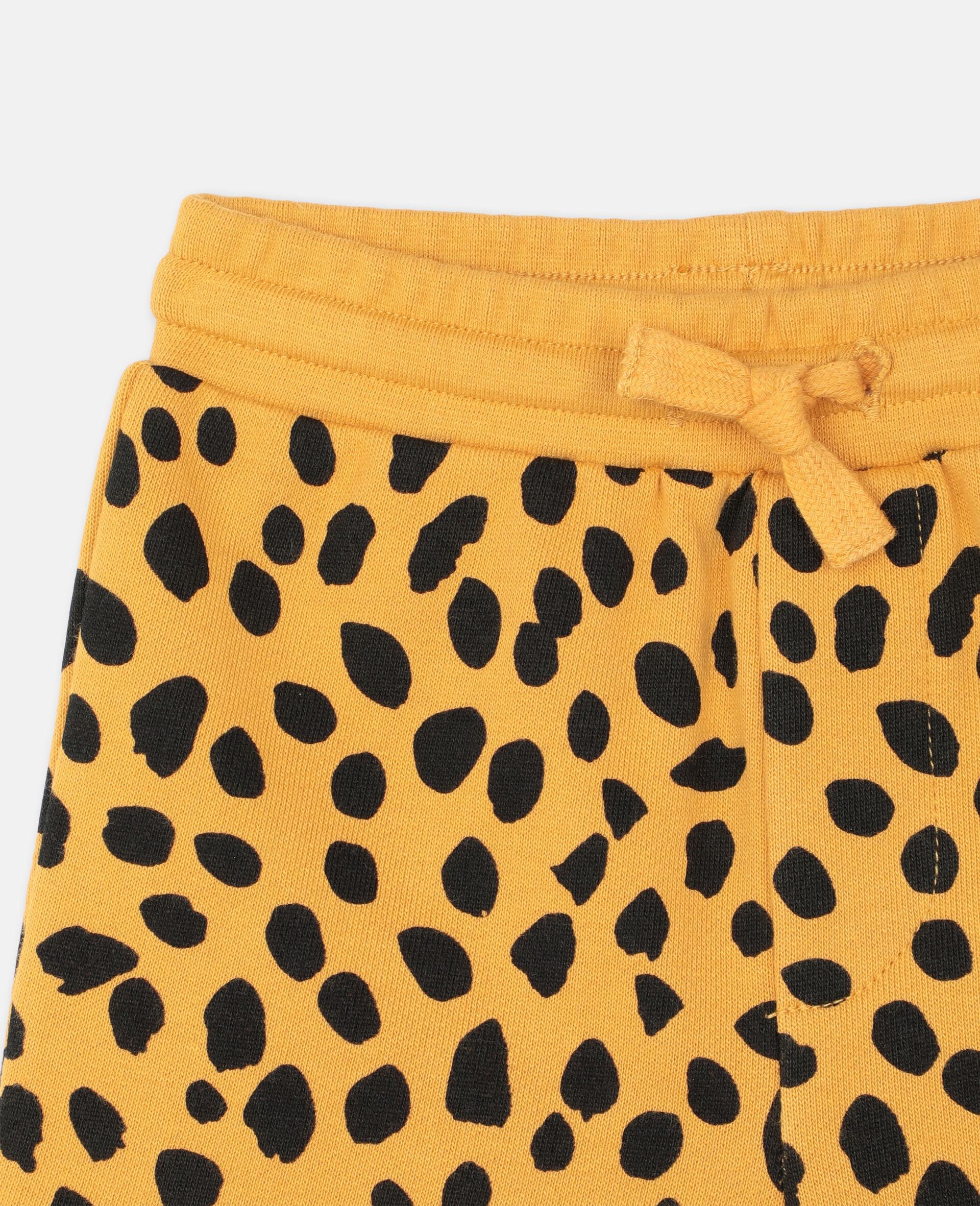 Short en coton à motif guépard -Fantaisie-large image number 1