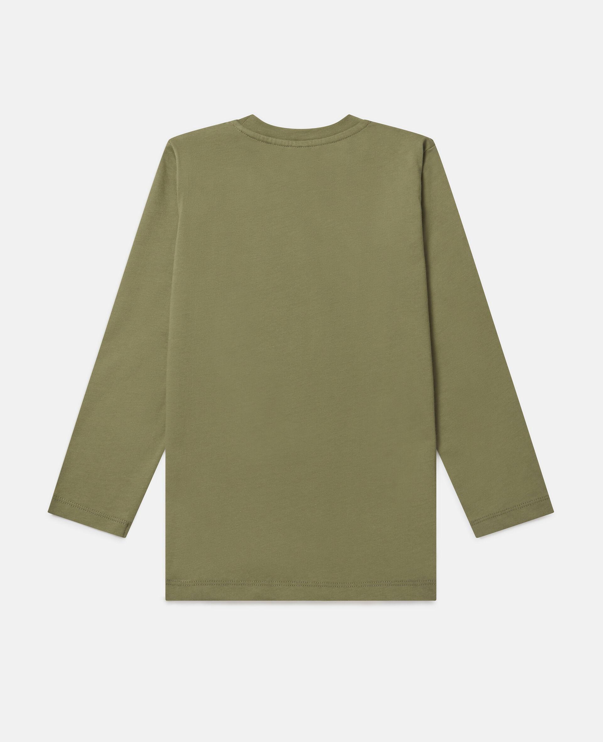 "T-Shirt Oversize ""Stay Wild""-Verde-large image number 3"