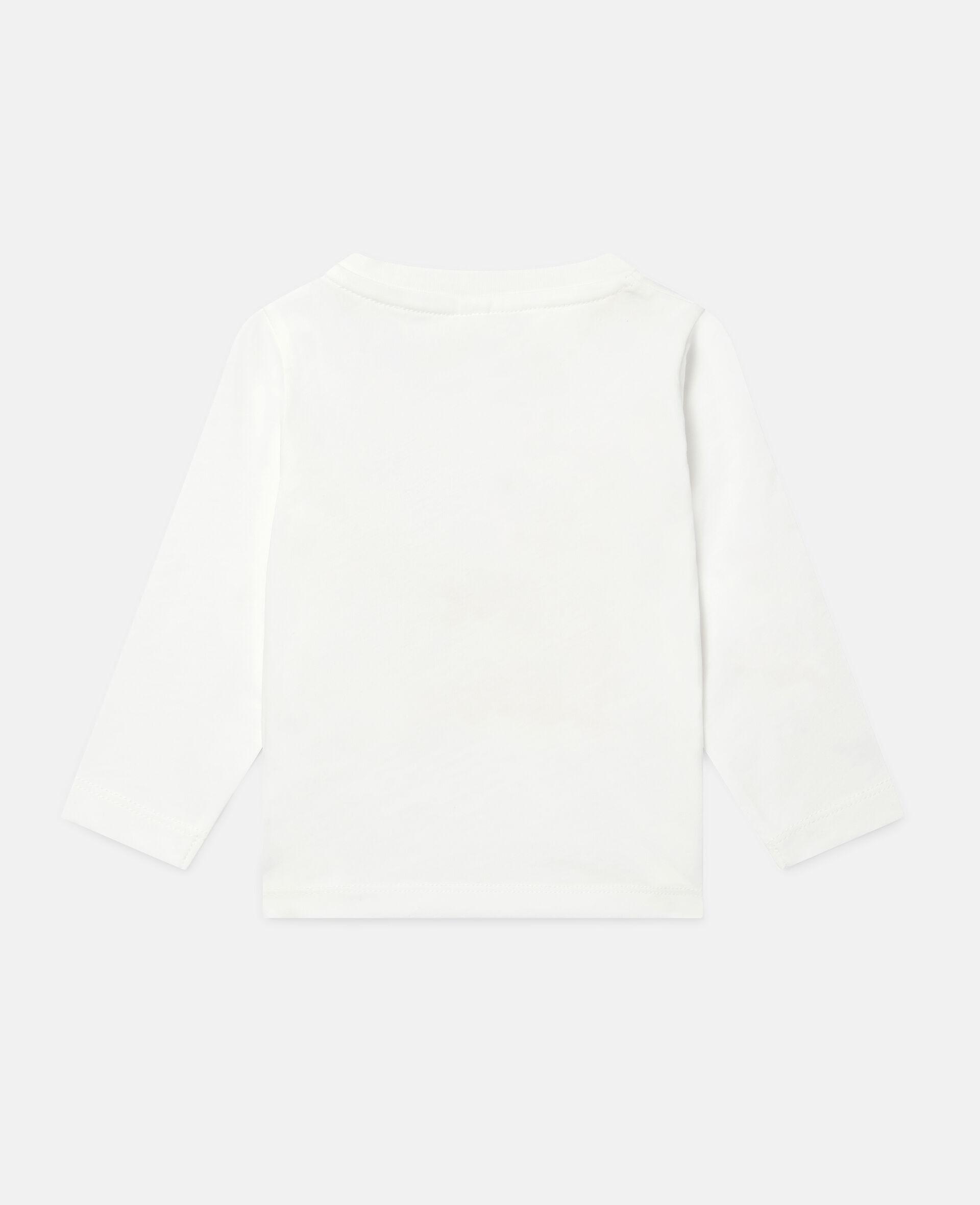 Haut en coton caniches amoureux-Blanc-large image number 3