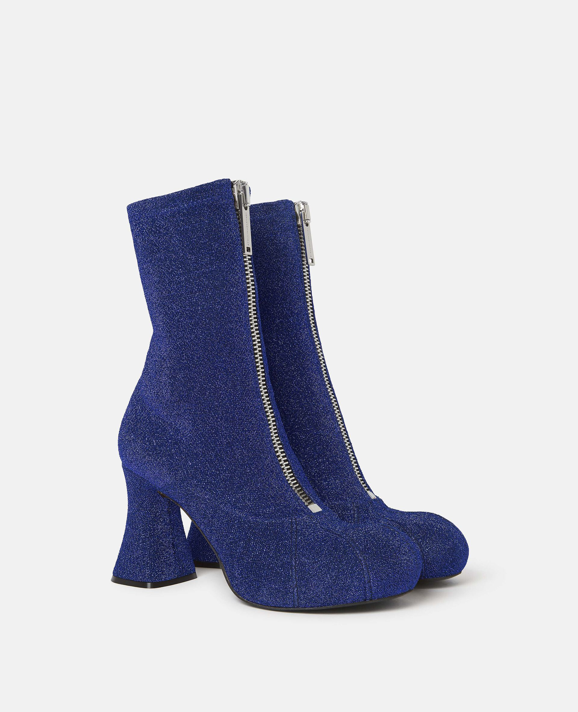 Duck City Glitter Ankle Boots -Blue-large image number 0