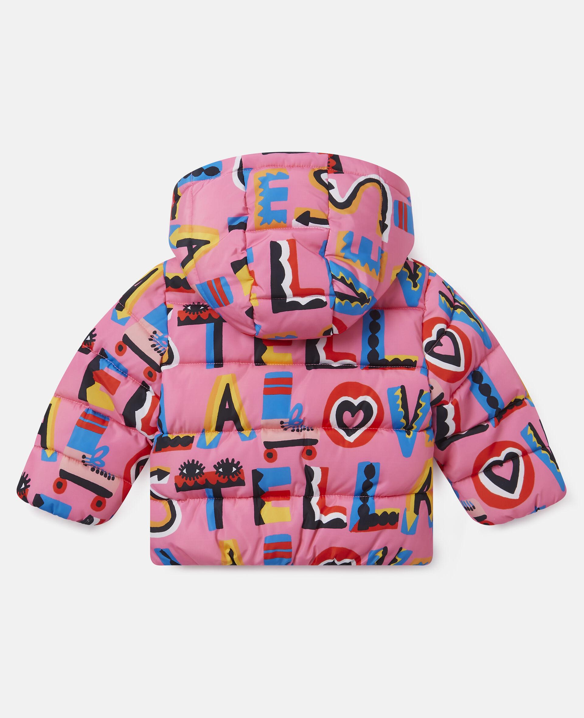 Stella Loves Hooded Puffer Jacket-Pink-large image number 3