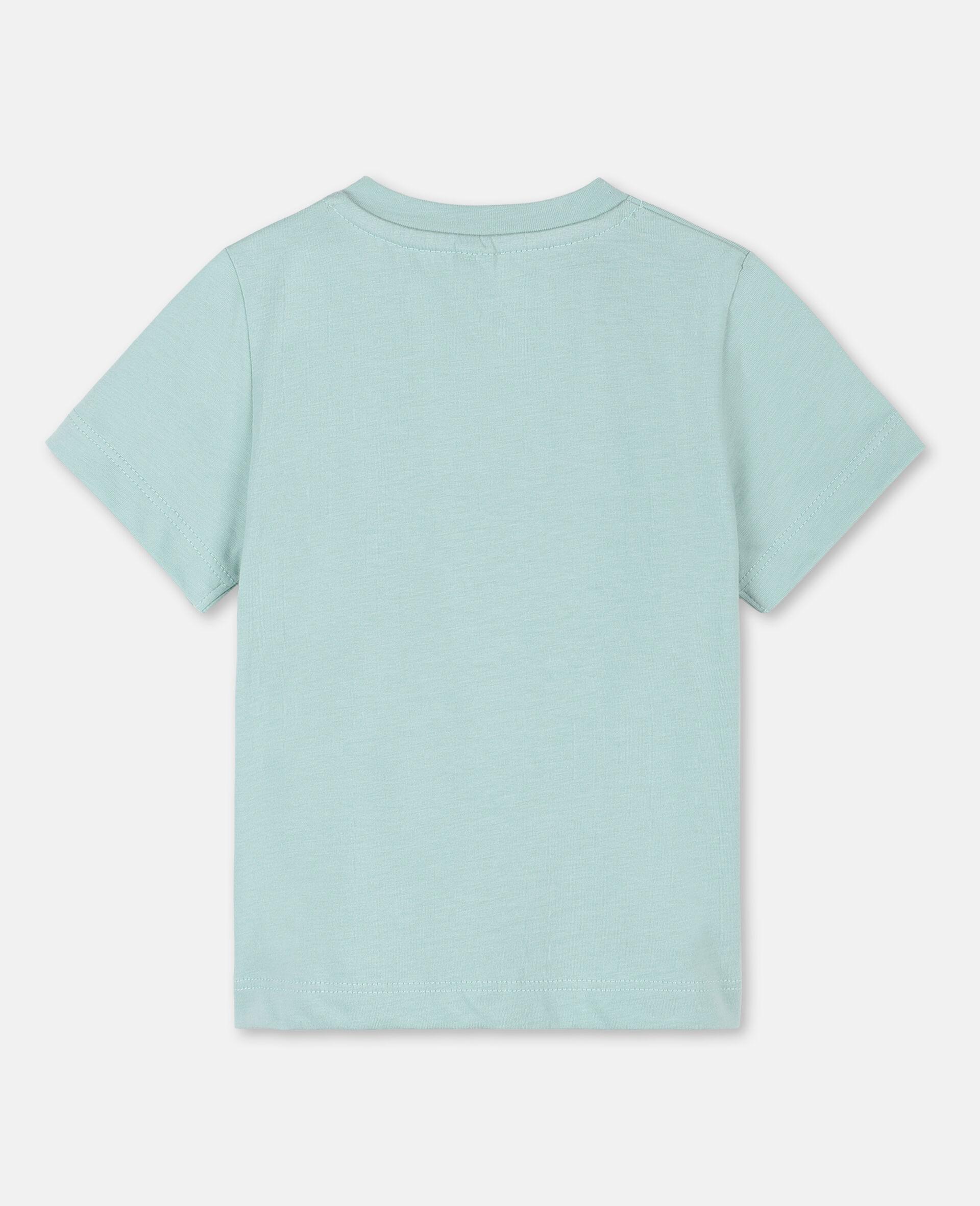 T-Shirt aus Baumwolle mit Schmetterling-Print-Grün-large image number 3