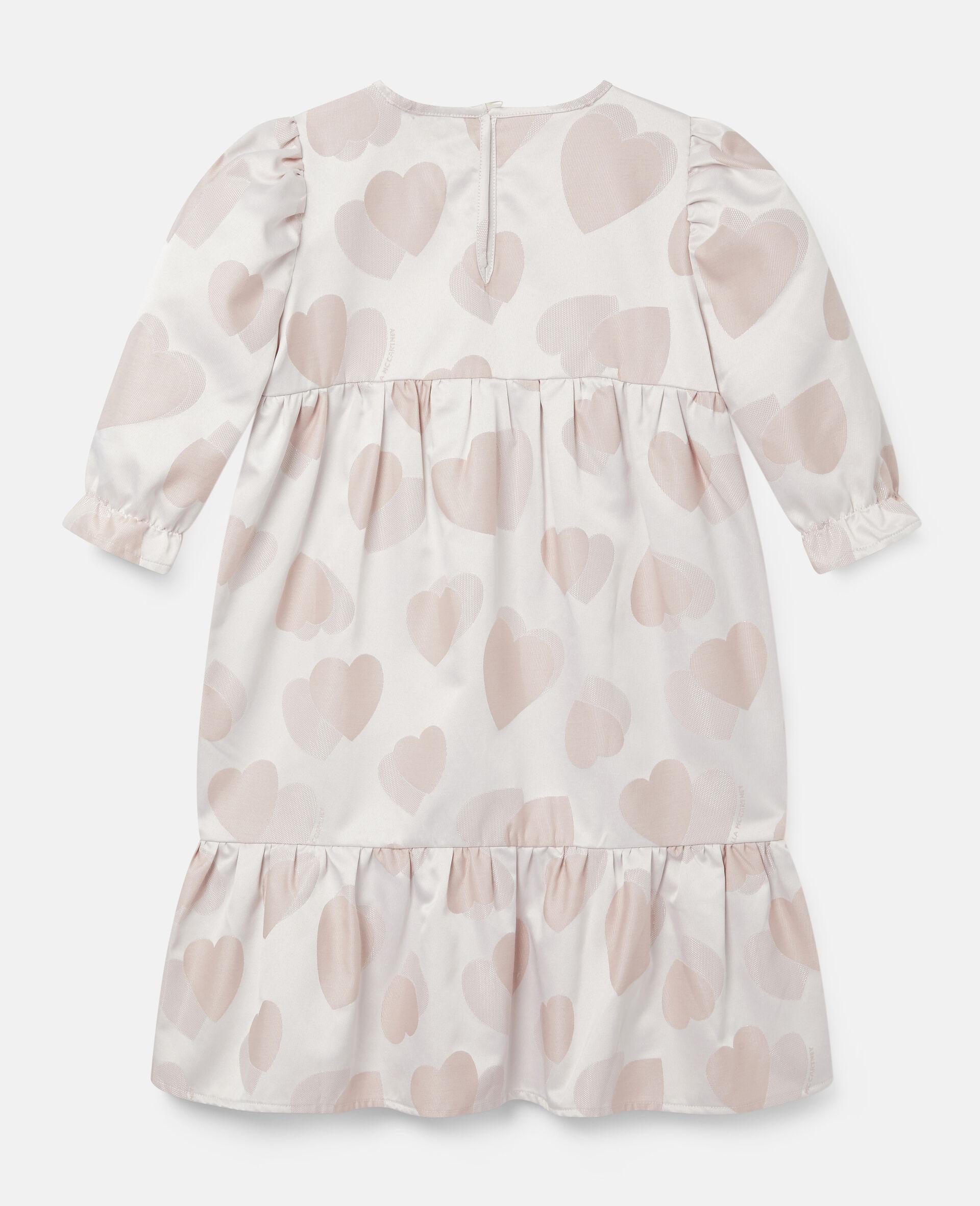 Kleid aus Jacquard mit Herzen-Print-Rose-large image number 3