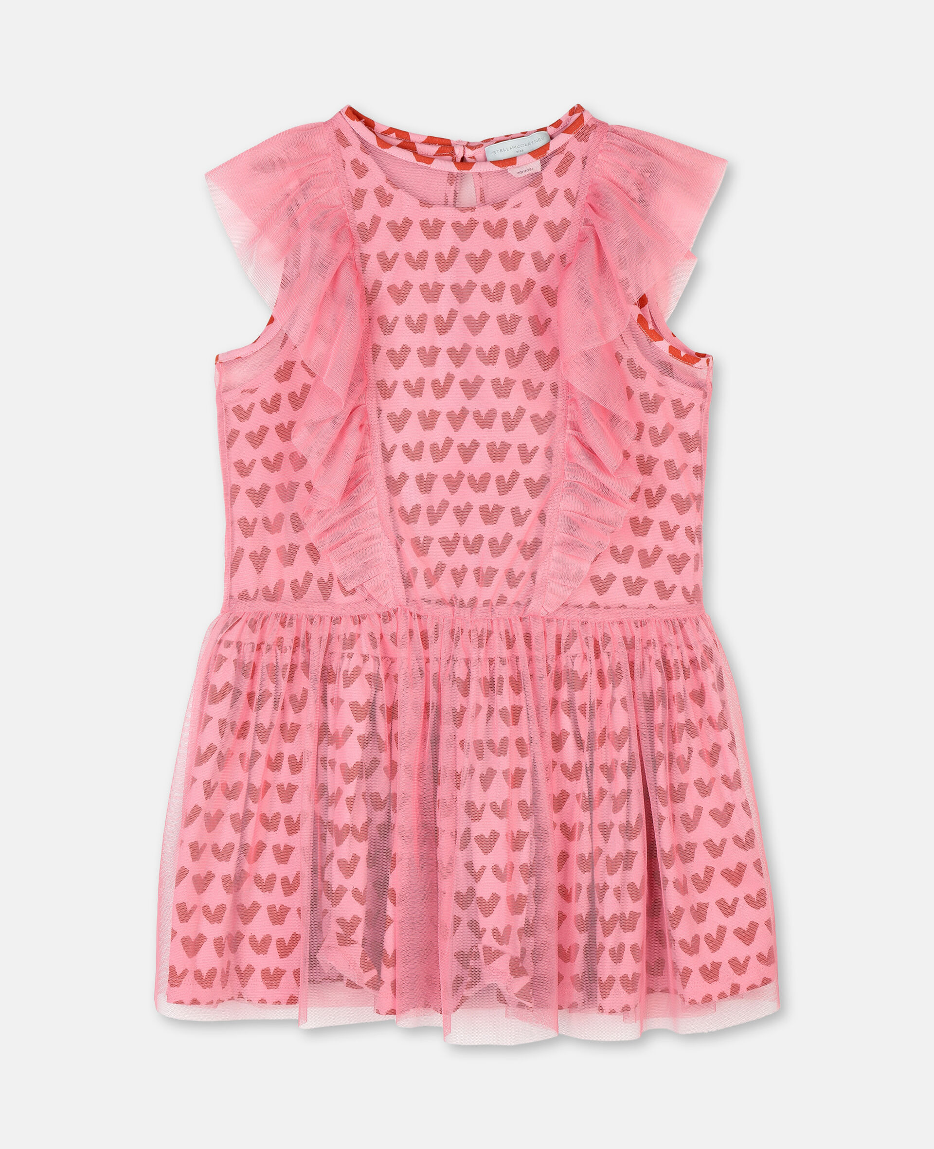 Hearts Tulle Dress-Pink-large image number 0