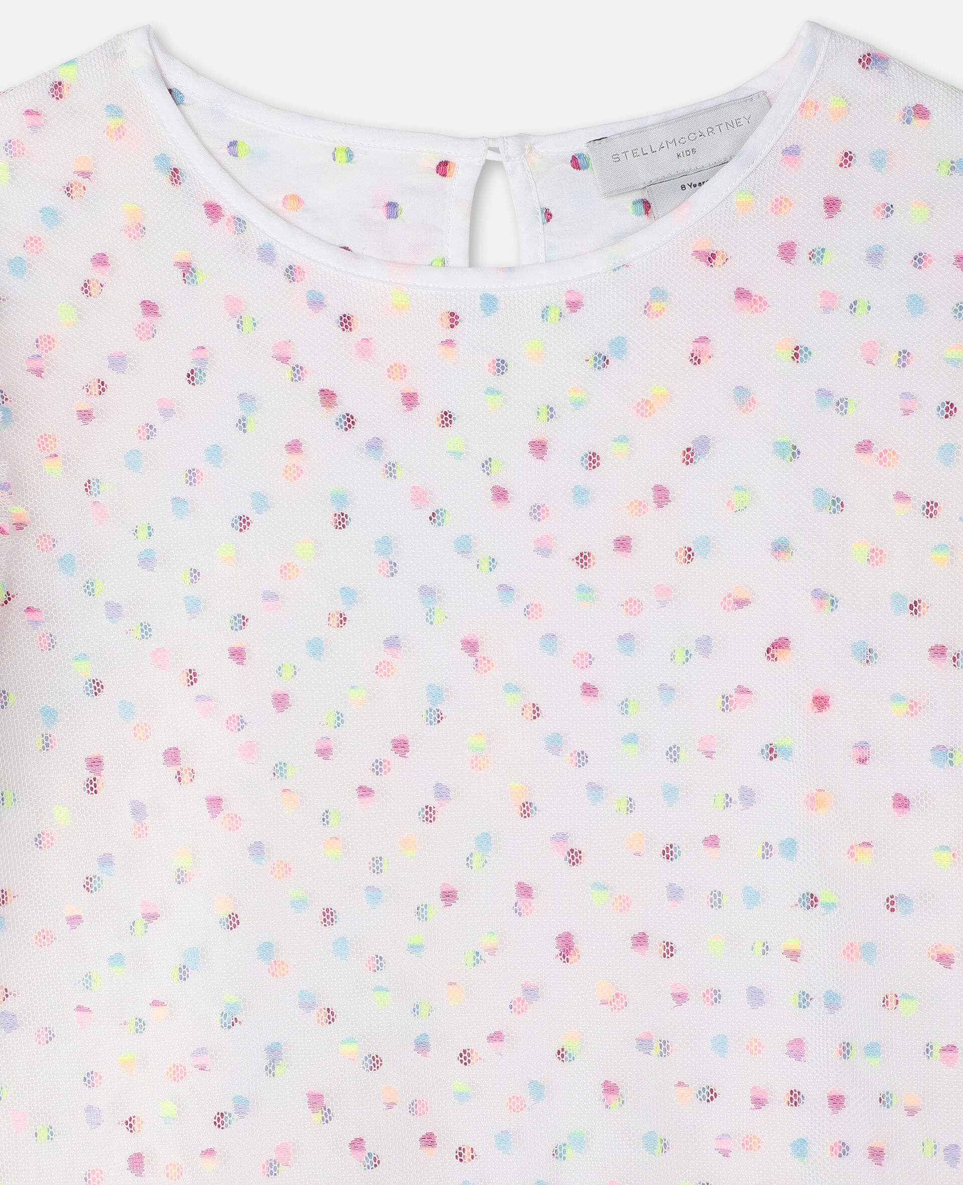 Embroidered Dots Tulle Dress -Multicoloured-large image number 2