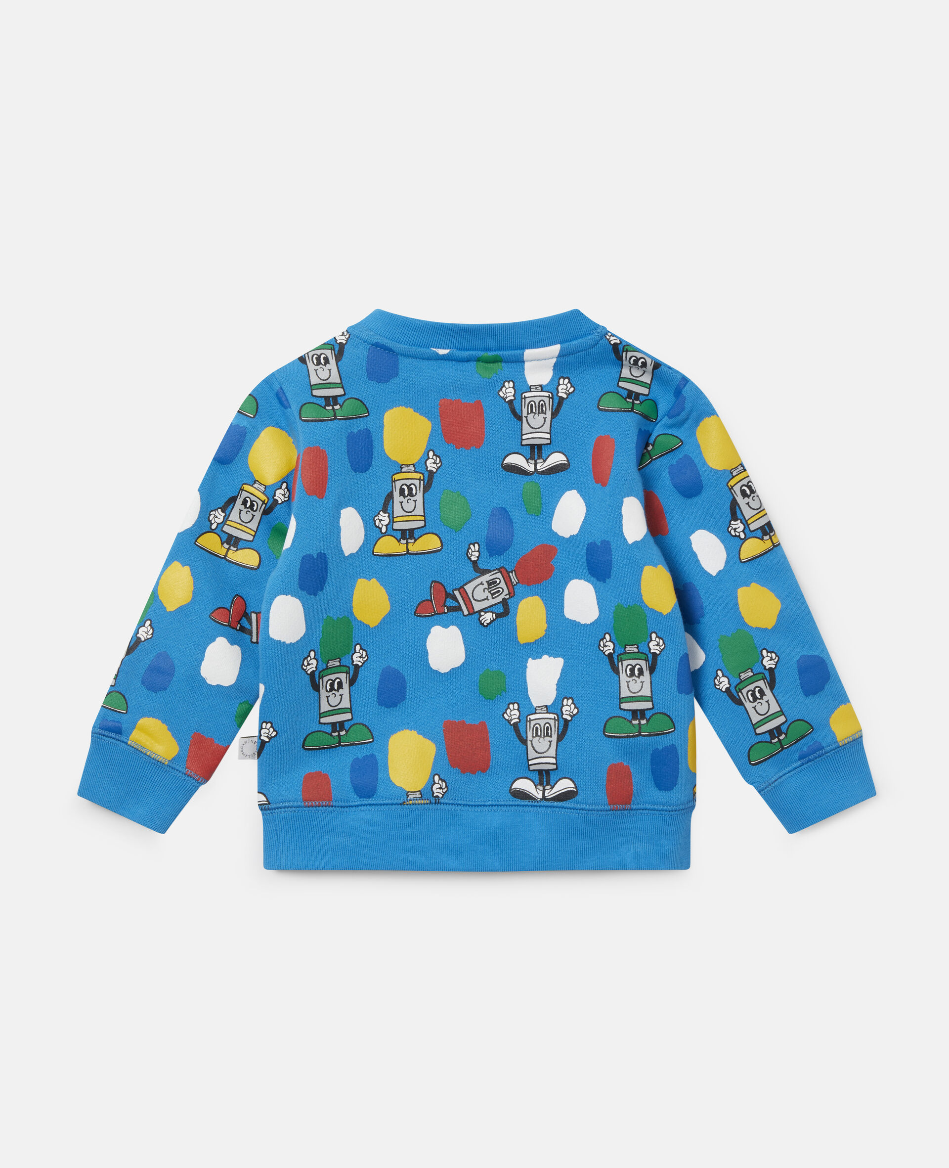 """Fleece-Sweatshirt mit """"Paint Tubes""""-Print-Blau-large image number 3"""