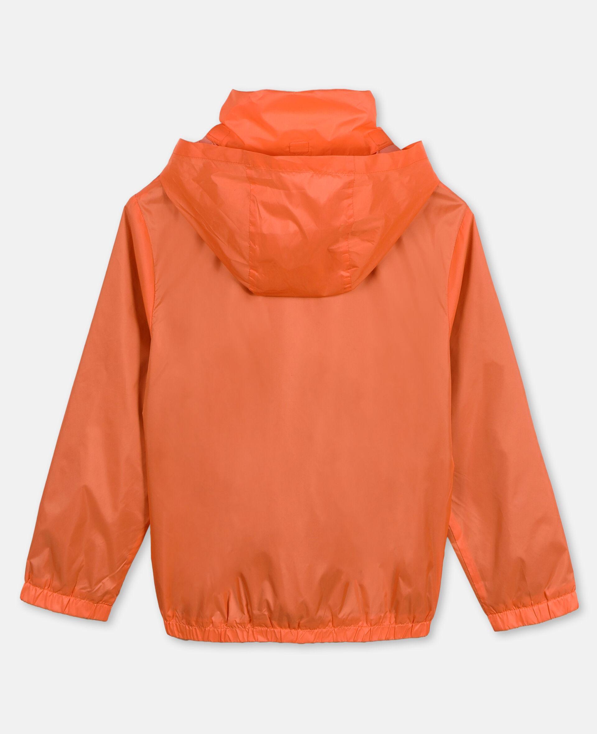 Sportliche Nylonjacke mit Logo -Orange-large image number 3