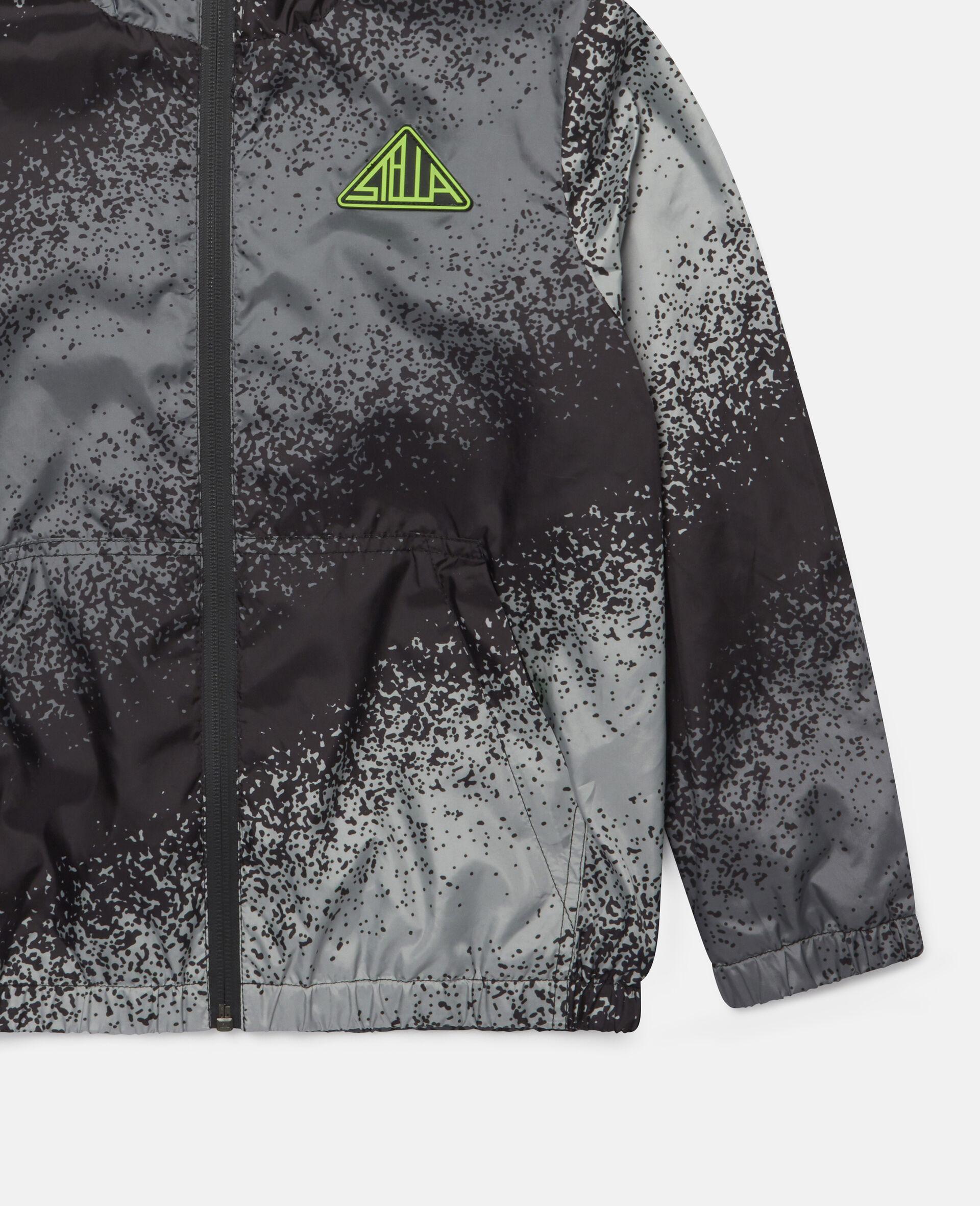 Spray Painted Effect Jacket-Grey-large image number 2