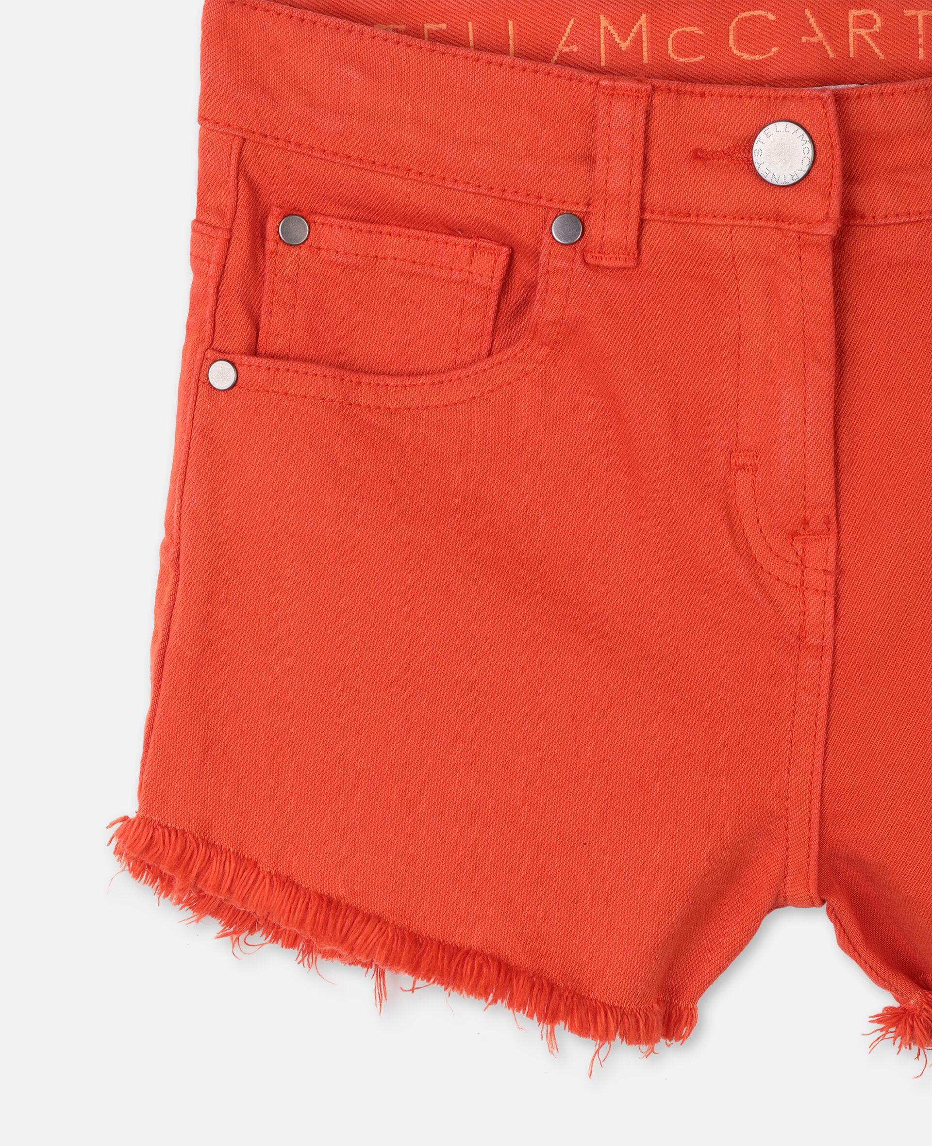Denim Red Shorts -Red-large image number 1