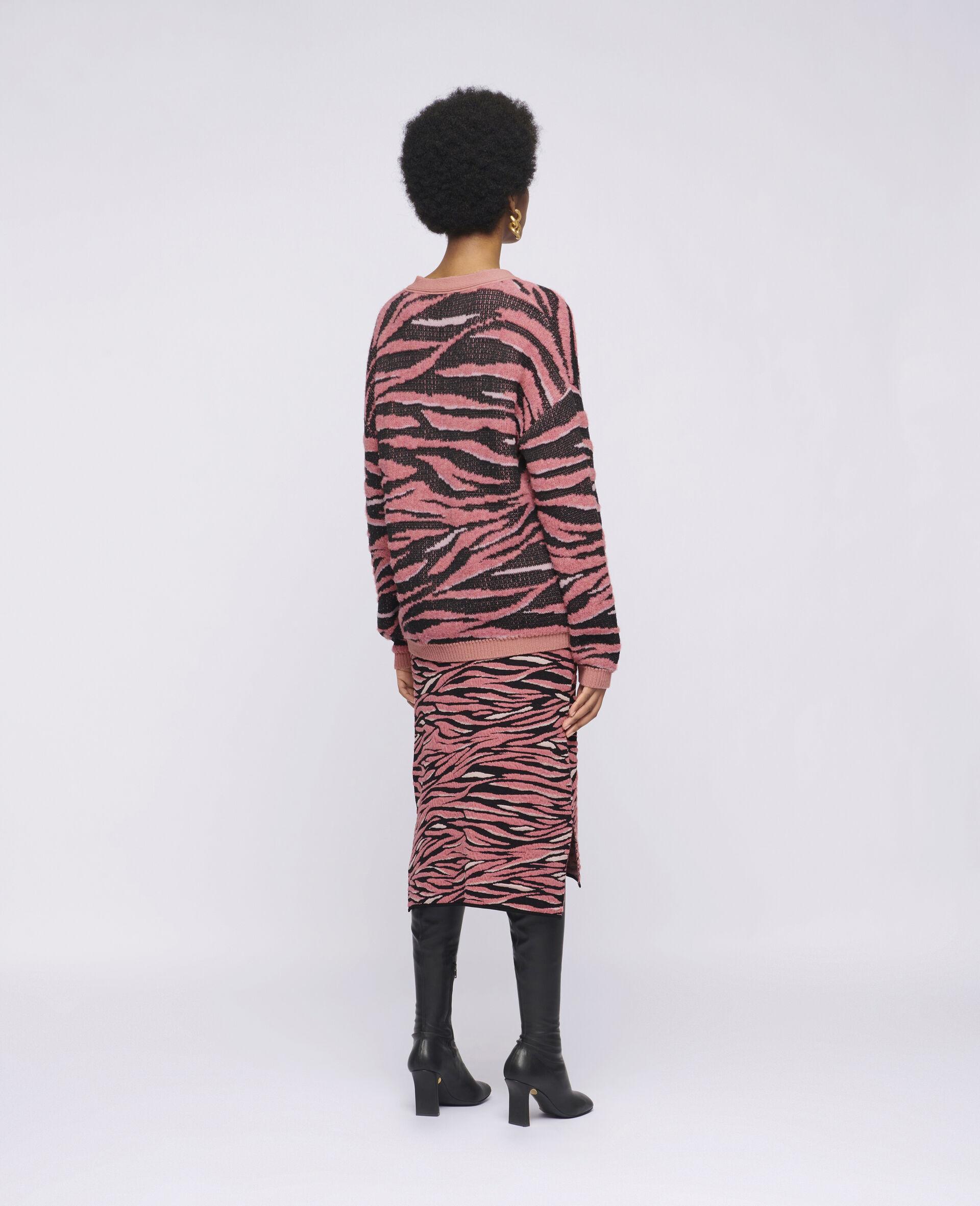 Jupe à motif animal-Marron-large image number 2