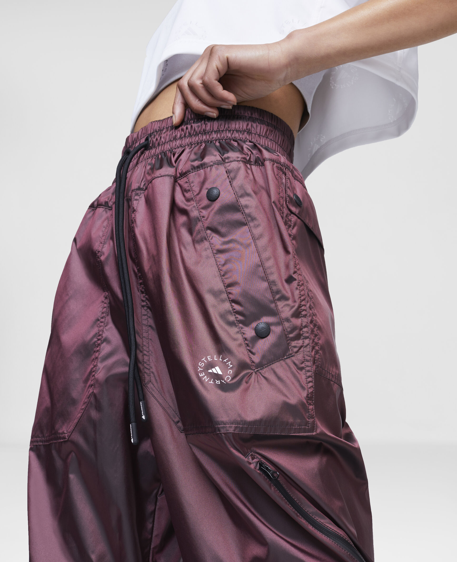 Burgundy Training Trousers-Red-large image number 3