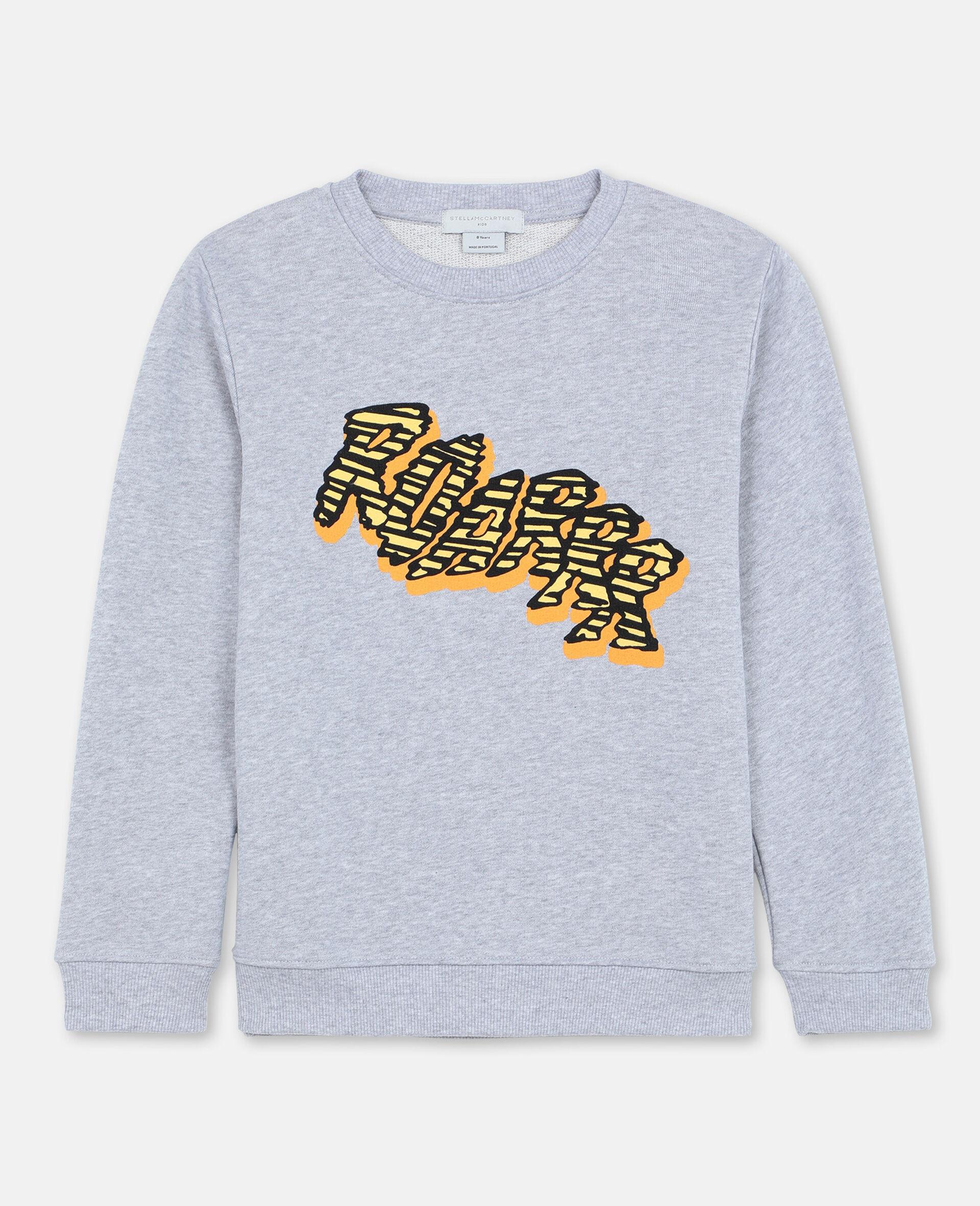 Roarrr Cotton Sweatshirt -Grey-large image number 0