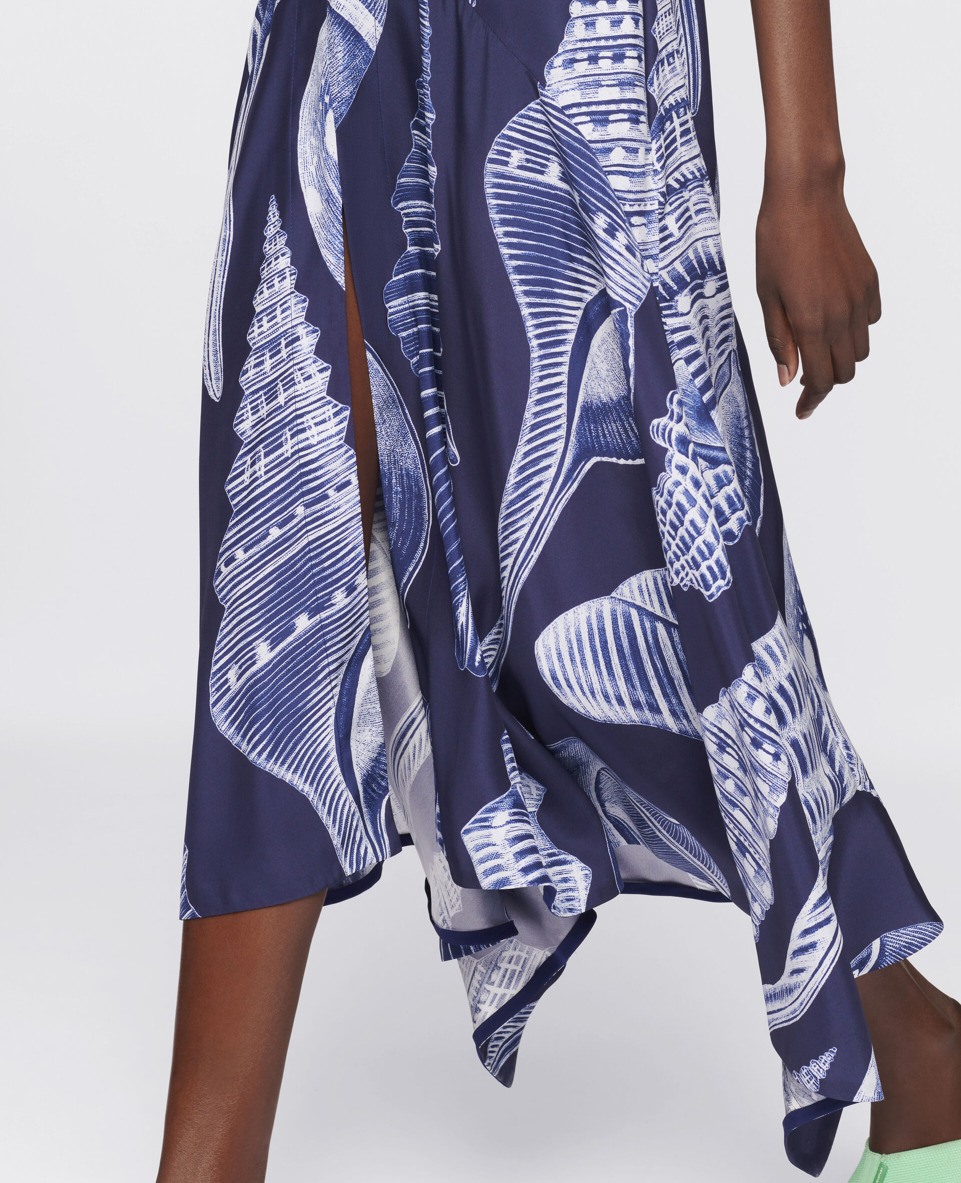 Anabelle Silk Dress-Blue-large image number 3